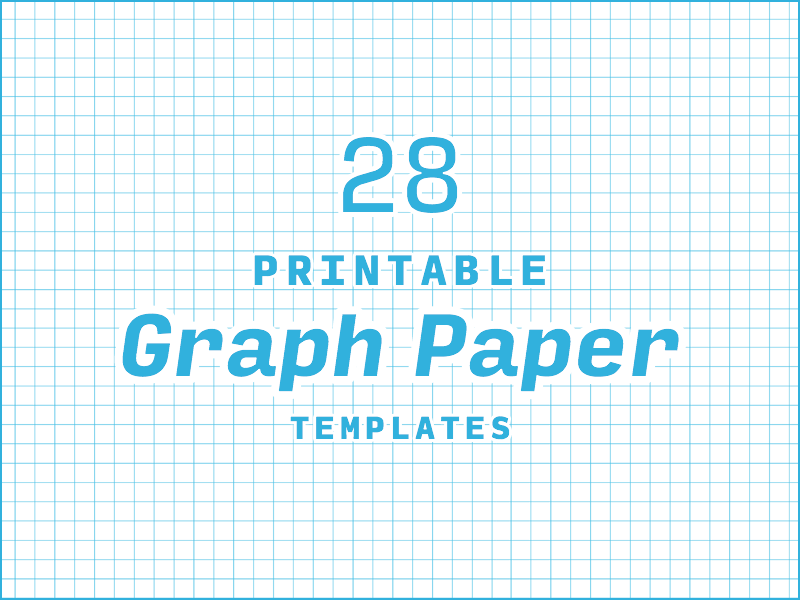 28  printable graph paper and grid paper templates