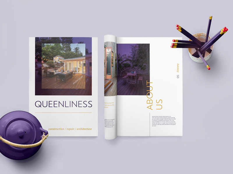 Queenliness Real Estate Brochure Template By Artem Hromovoj
