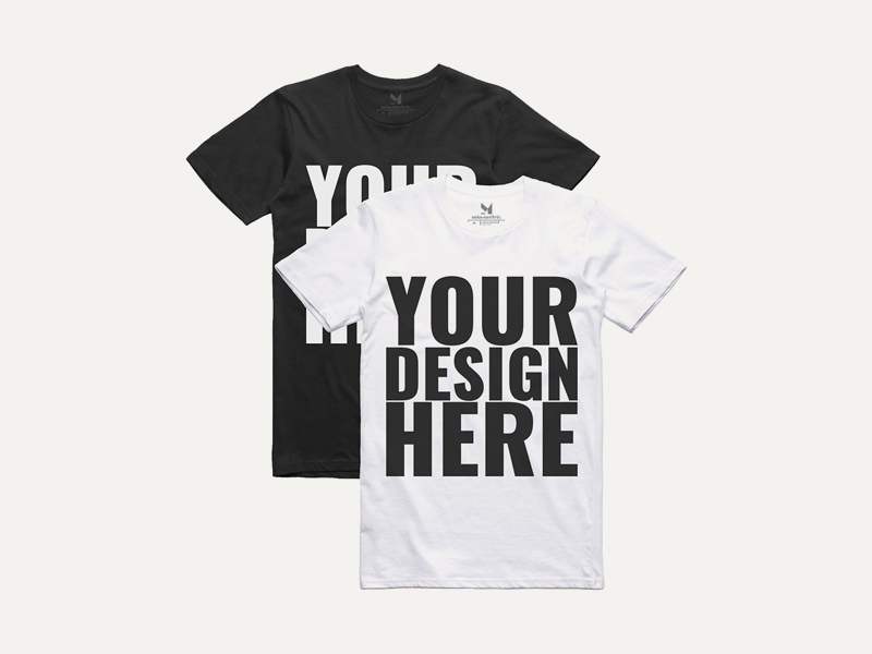 realistic black white t shirt mockups f84