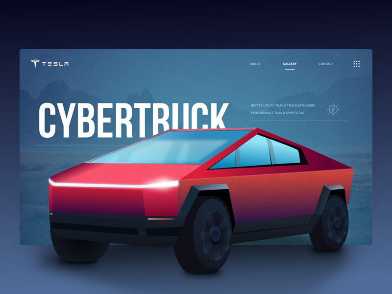 Tesla Cybertruck Mockup Vector - Freebie Supply