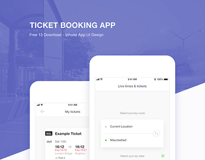 ticket booking app with adobe xd freebie supply