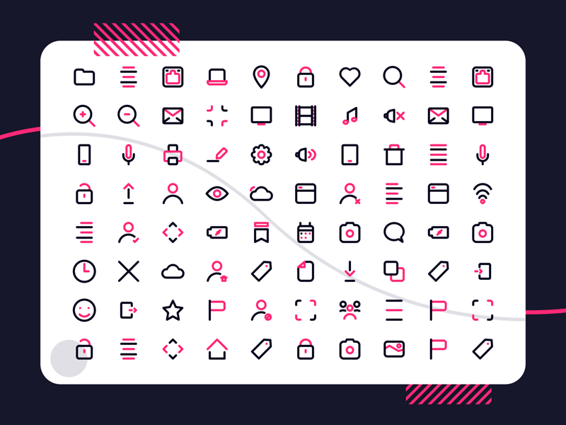 UI Outline Icons - Freebie Supply