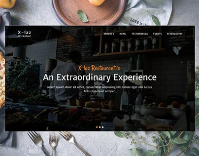 UI Restaurant Design - Free Xd Template - Freebie Supply