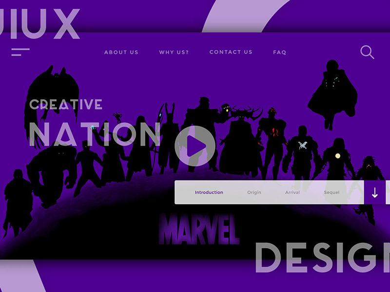 Website Header UI/UX Design Template - Freebie Supply