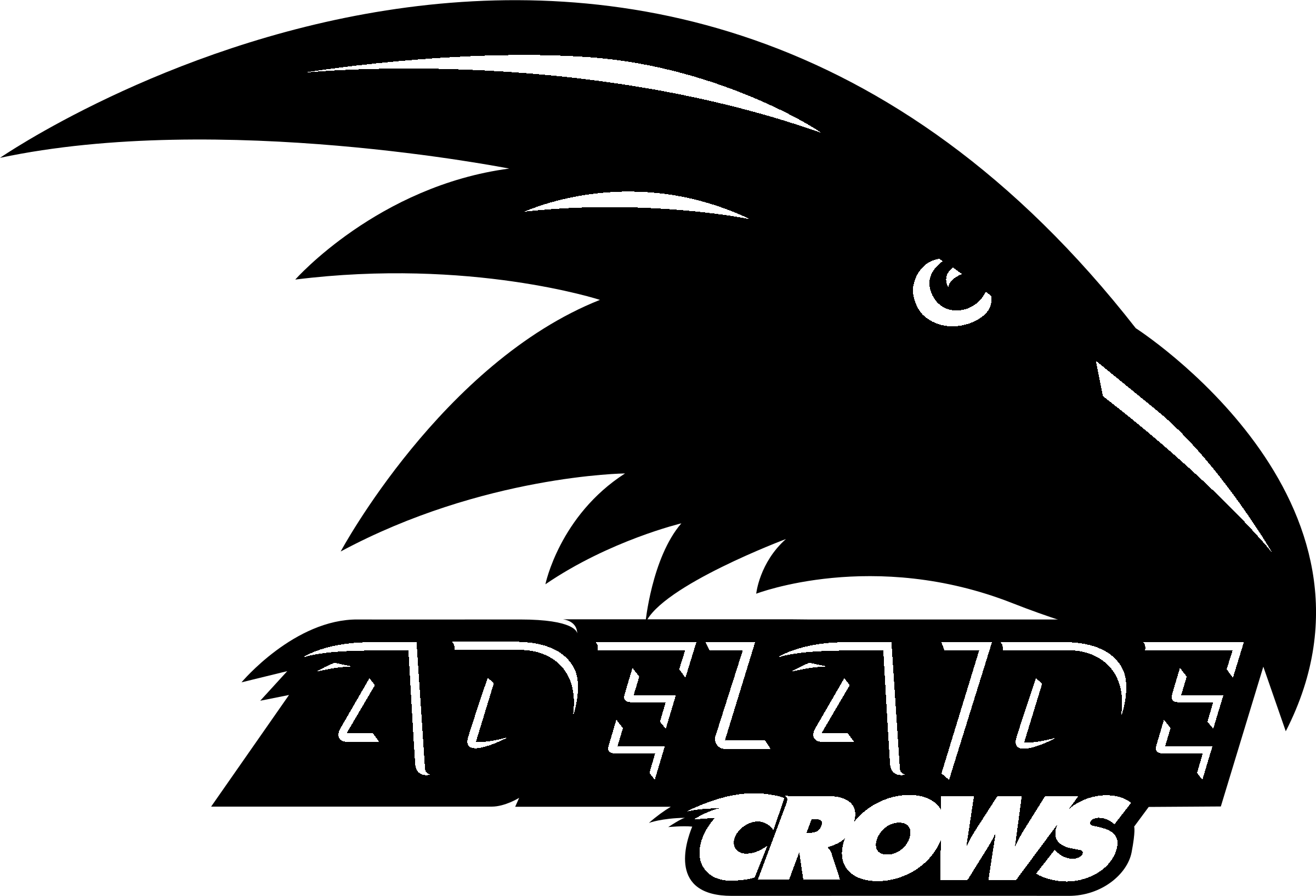 Adelaide crows logo black and white