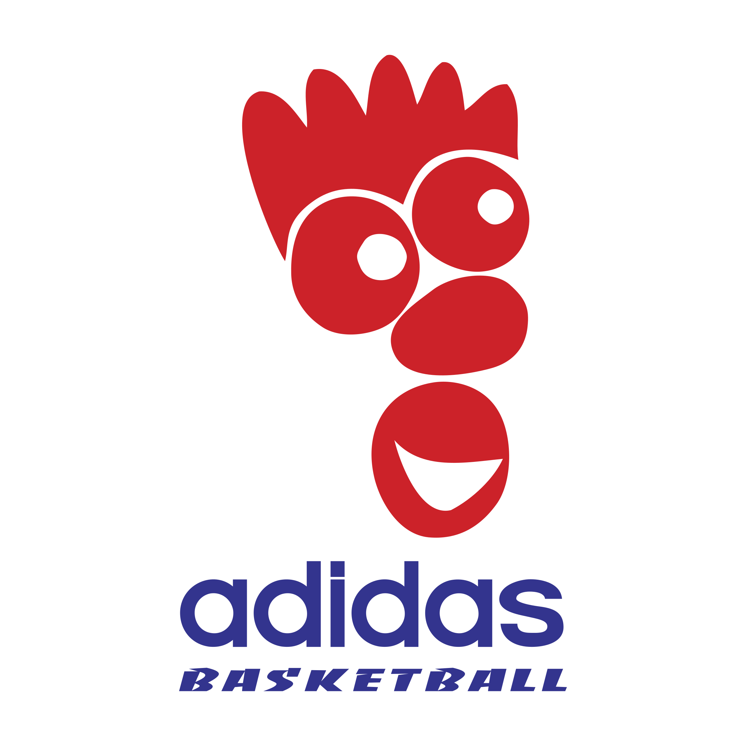basket adidas avec un logo basketball
