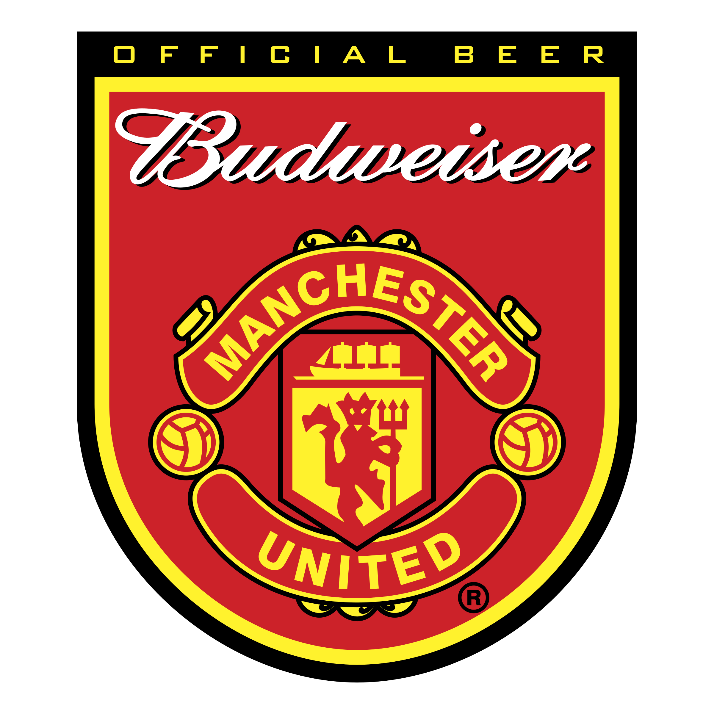 budweiser manchester united logo png transparent svg vector freebie supply budweiser manchester united logo png