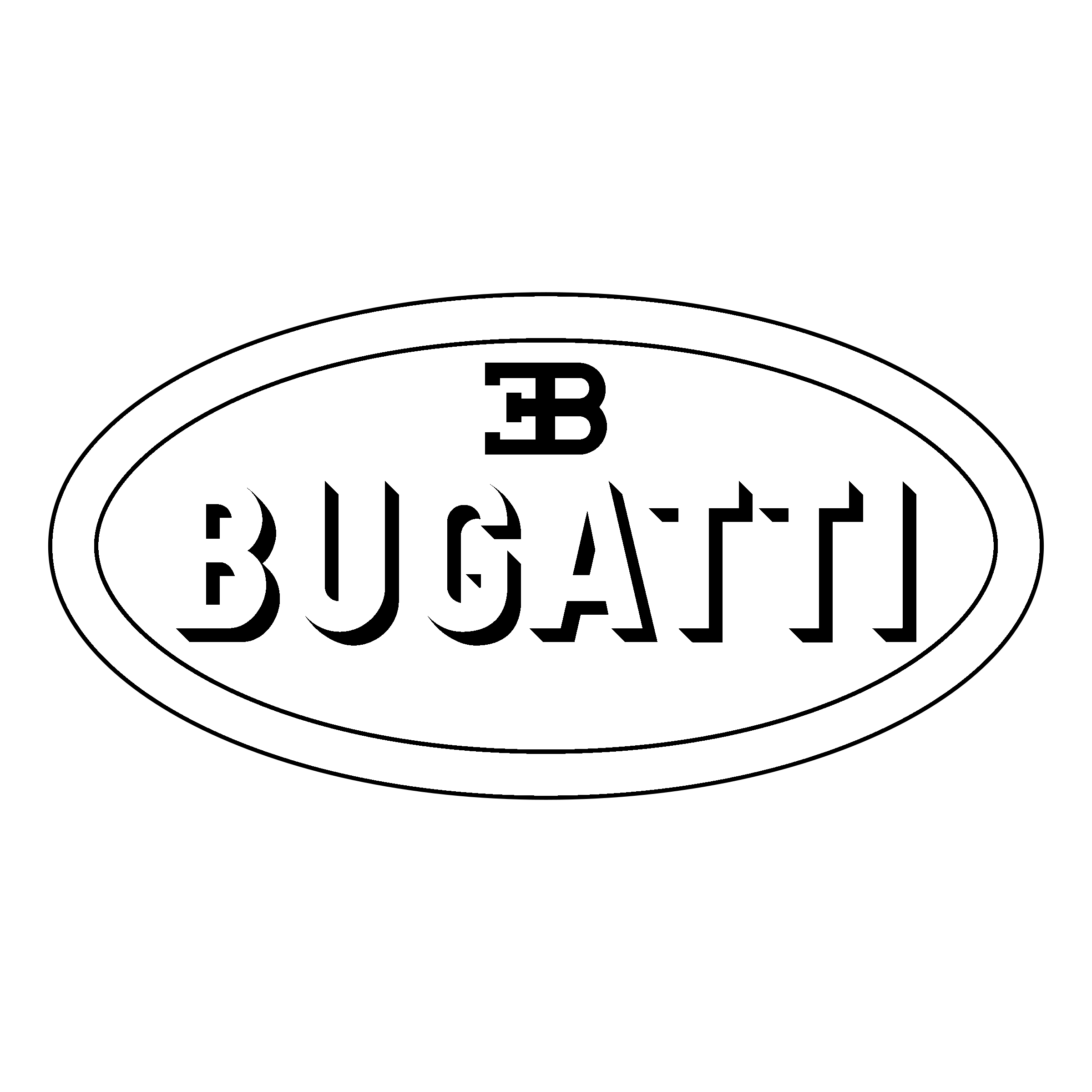 Bugatti logo png transparent svg vector freebie supply bugatti logo black and white voltagebd Image collections