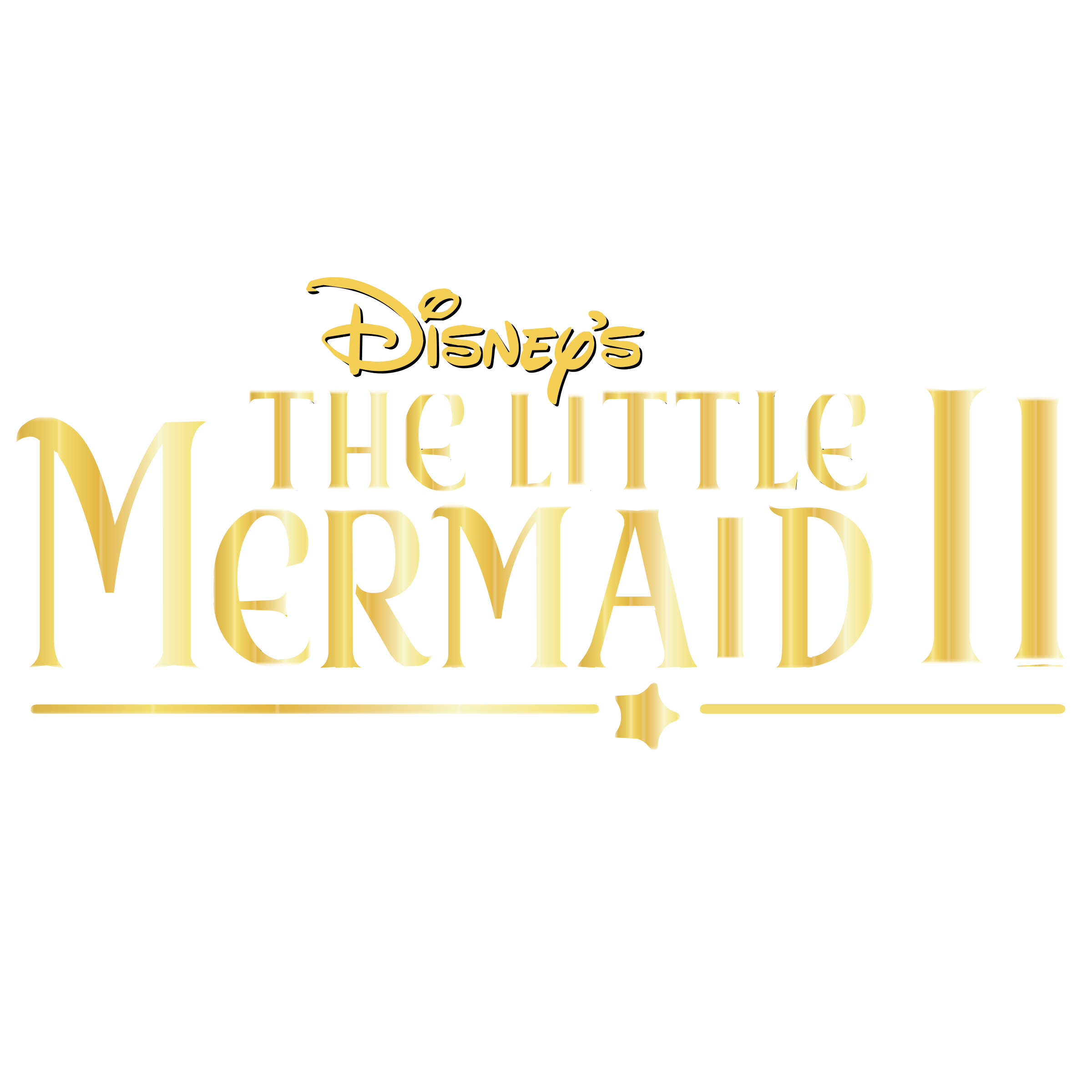 the little mermaid ii logo png transparent svg vector freebie supply the little mermaid ii logo png