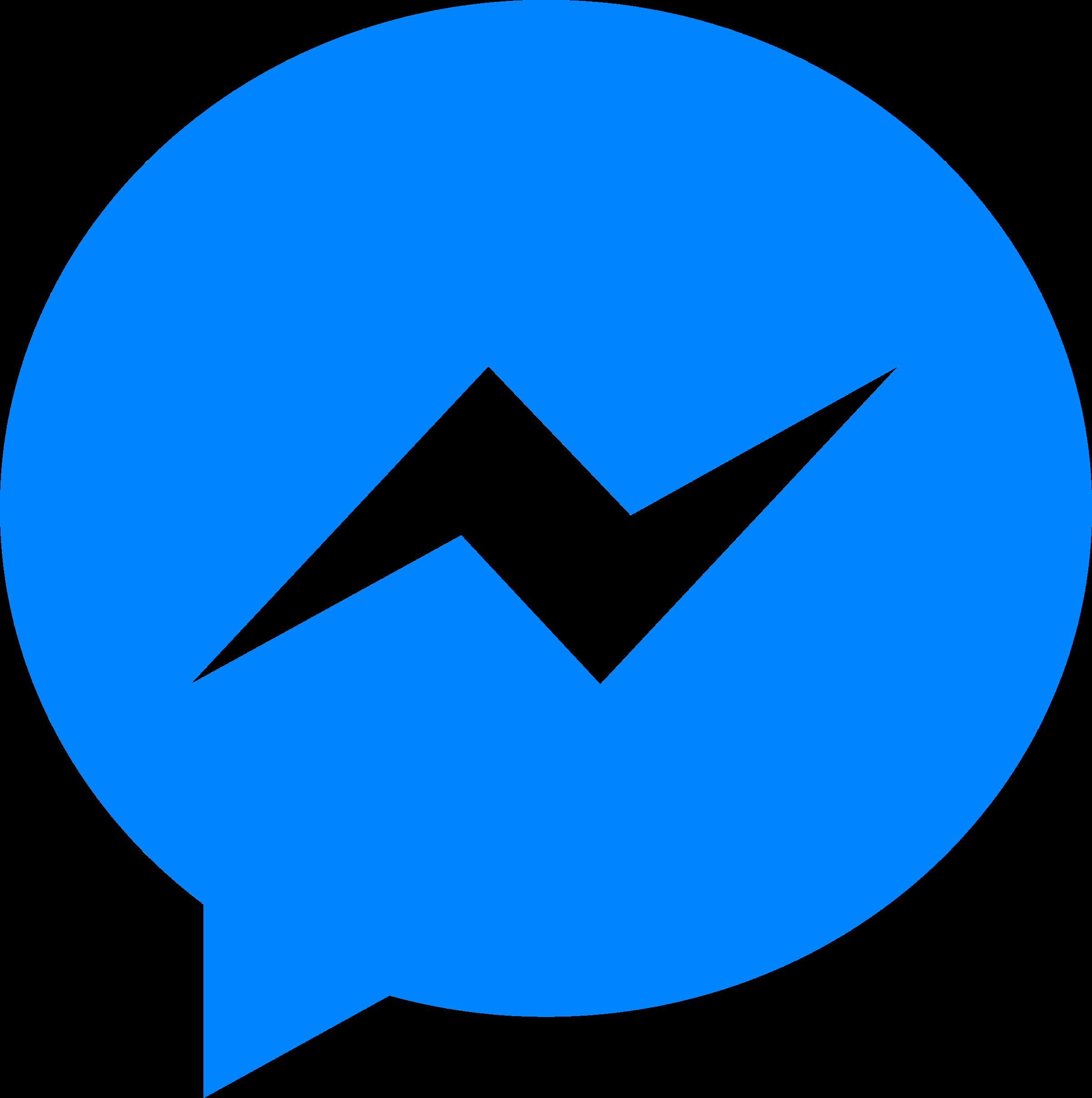 facebook messenger logo png transparent amp svg vector