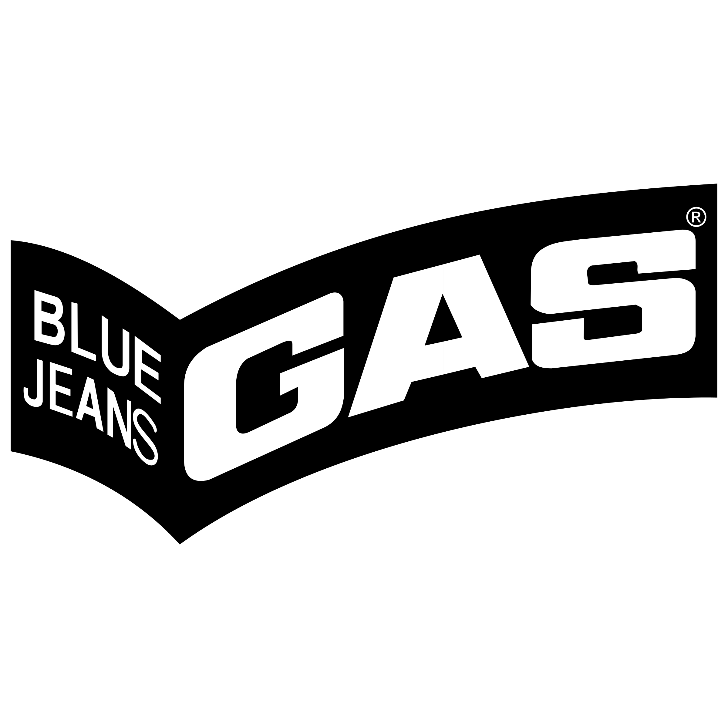 Gas Blue Jeans Logo PNG Transparent & SVG Vector - Freebie Supply