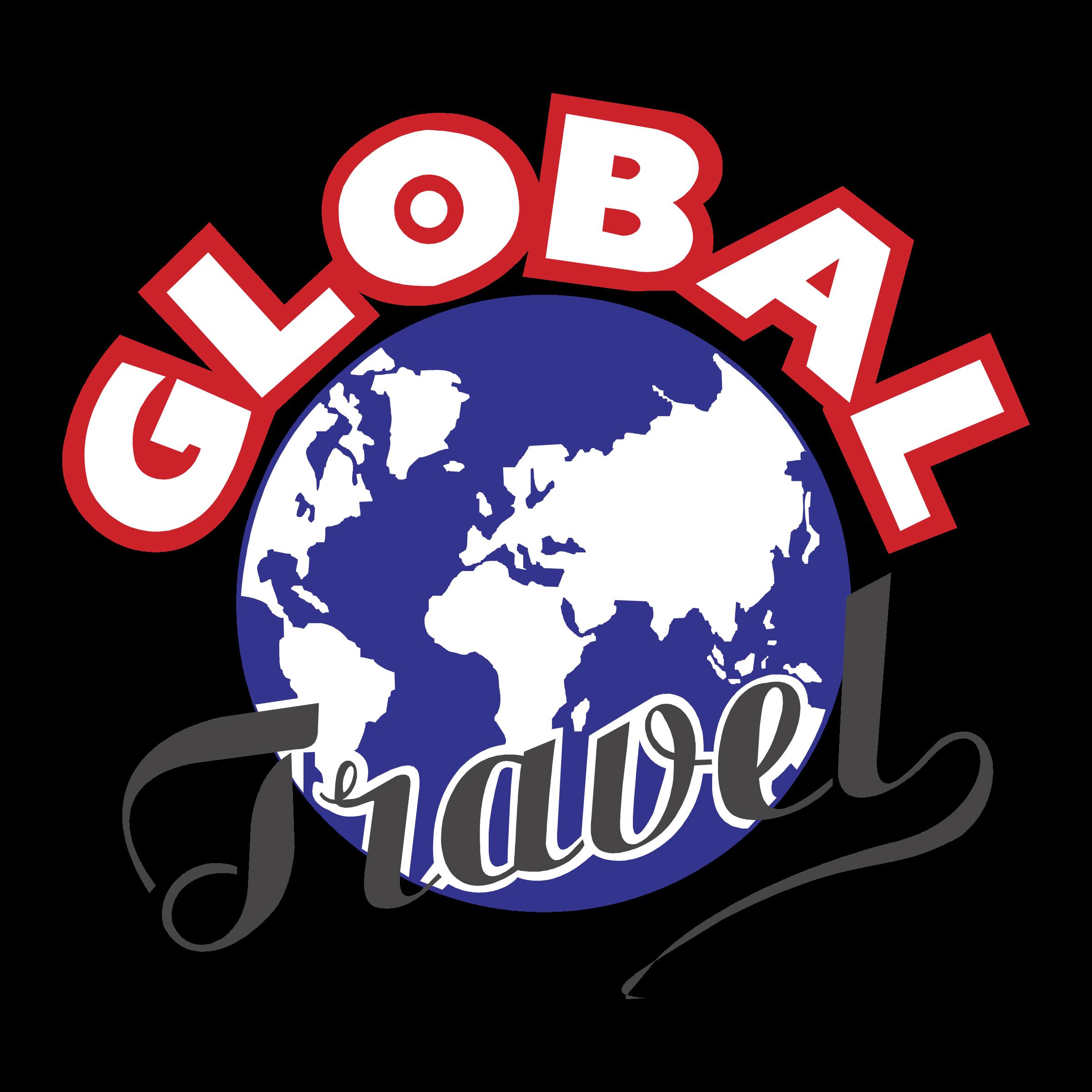 Global Travel Logo PNG Transparent
