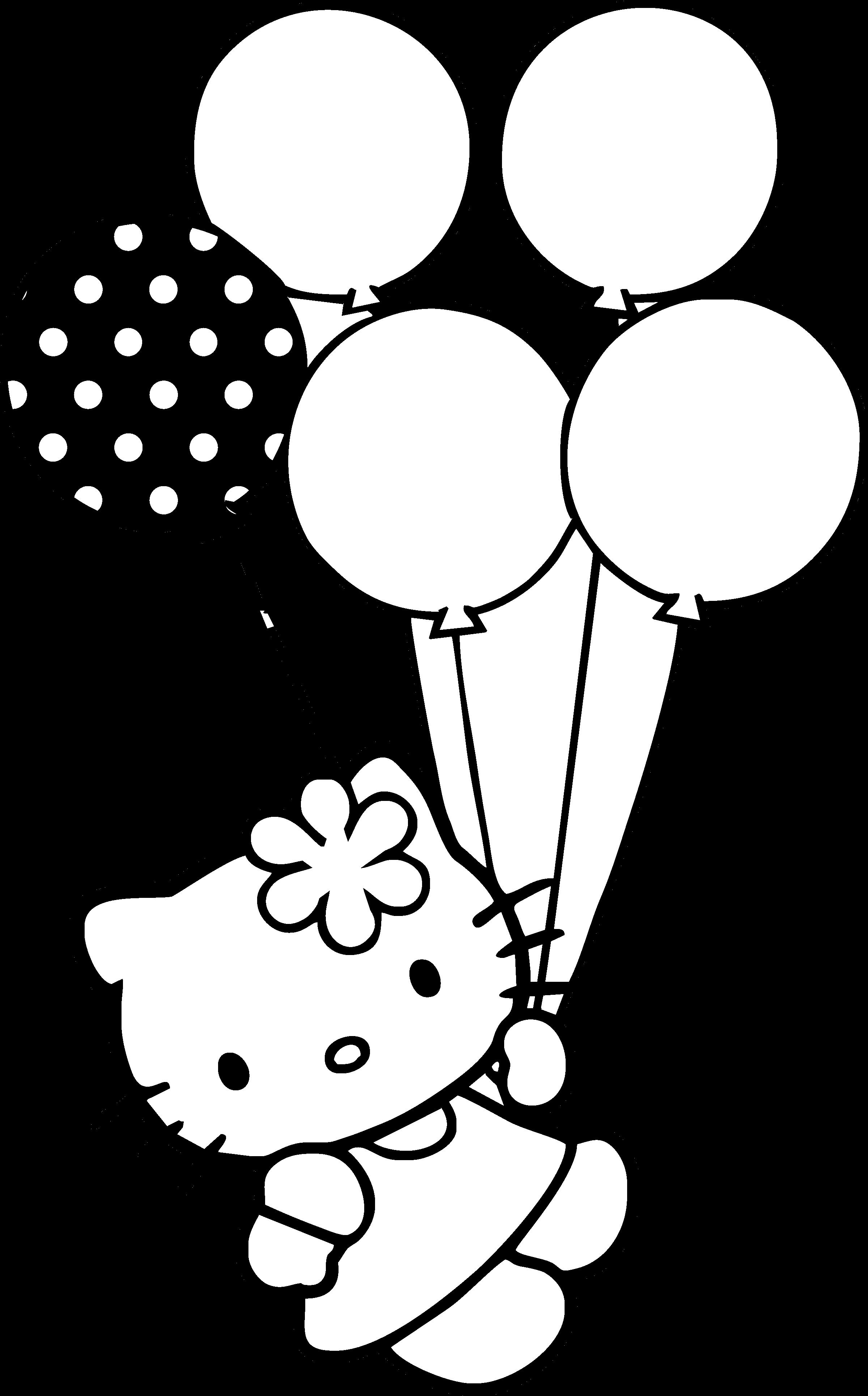 Hello kitty logo black and white