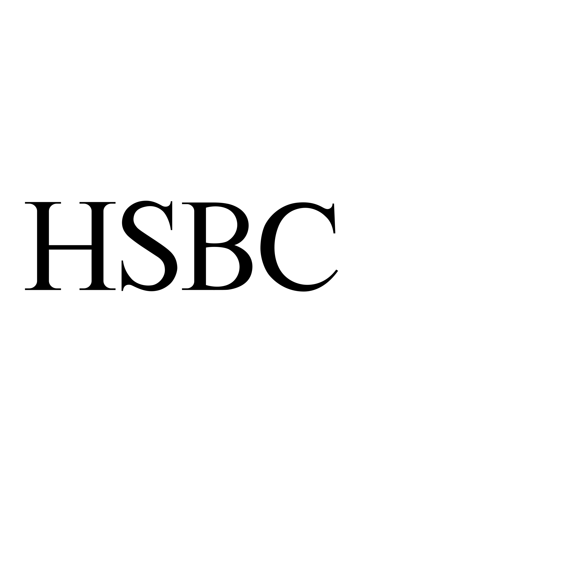 HSBC Logo Black And White