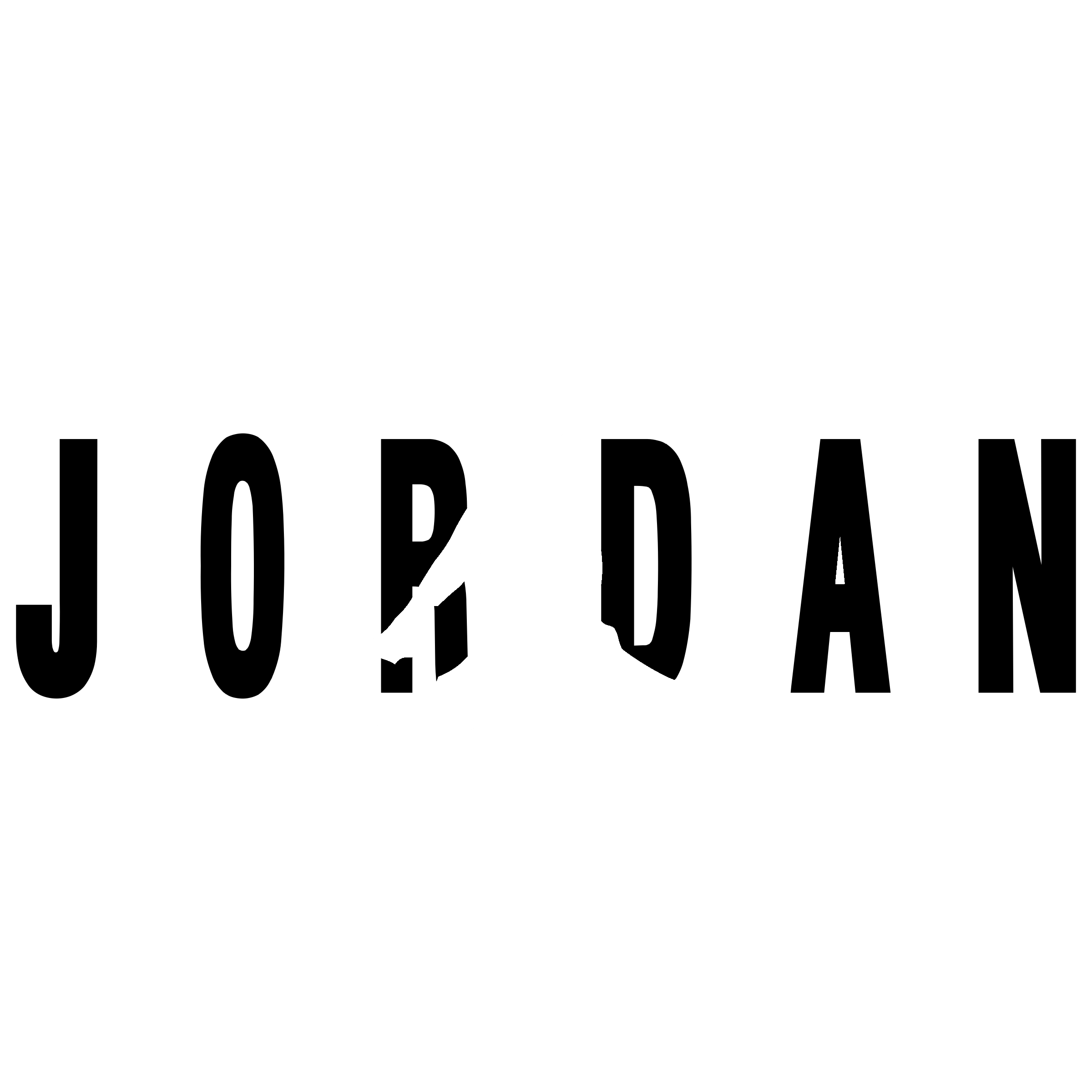 Jordan Air Logo Black And White