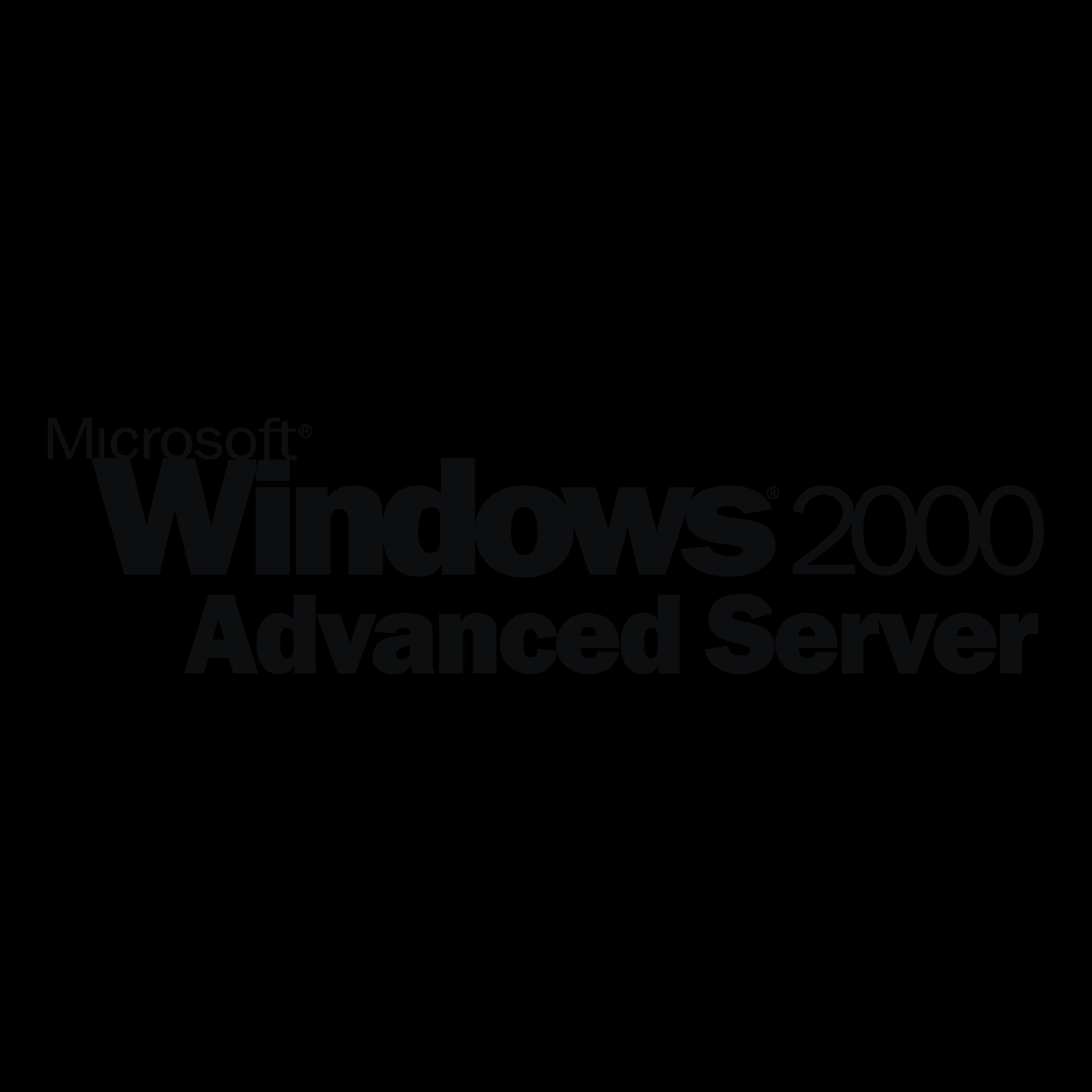 Microsoft Windows 2000 Advanced Server Logo PNG Transparent
