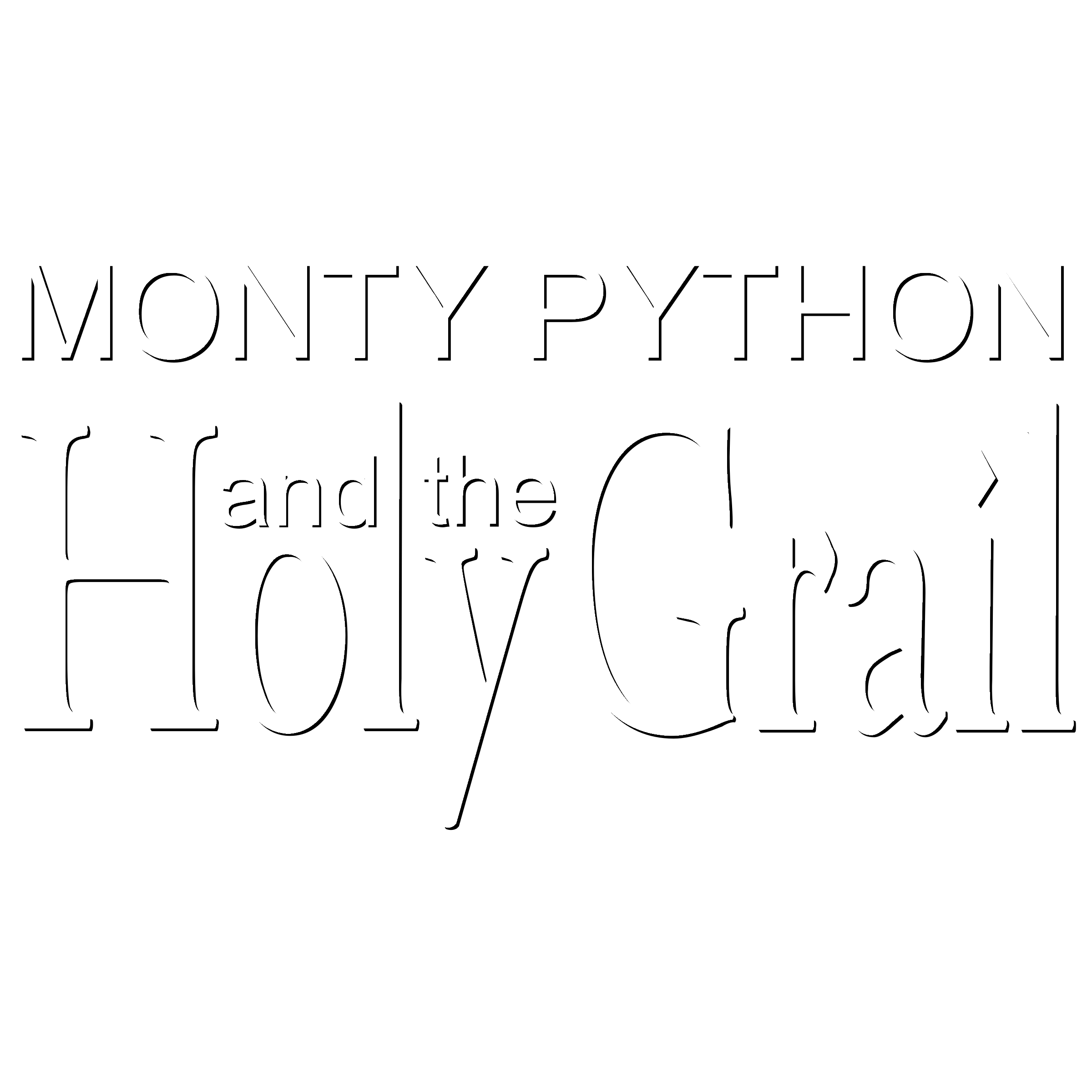 Monty Python and the Holy Grail Logo PNG Transparent & SVG