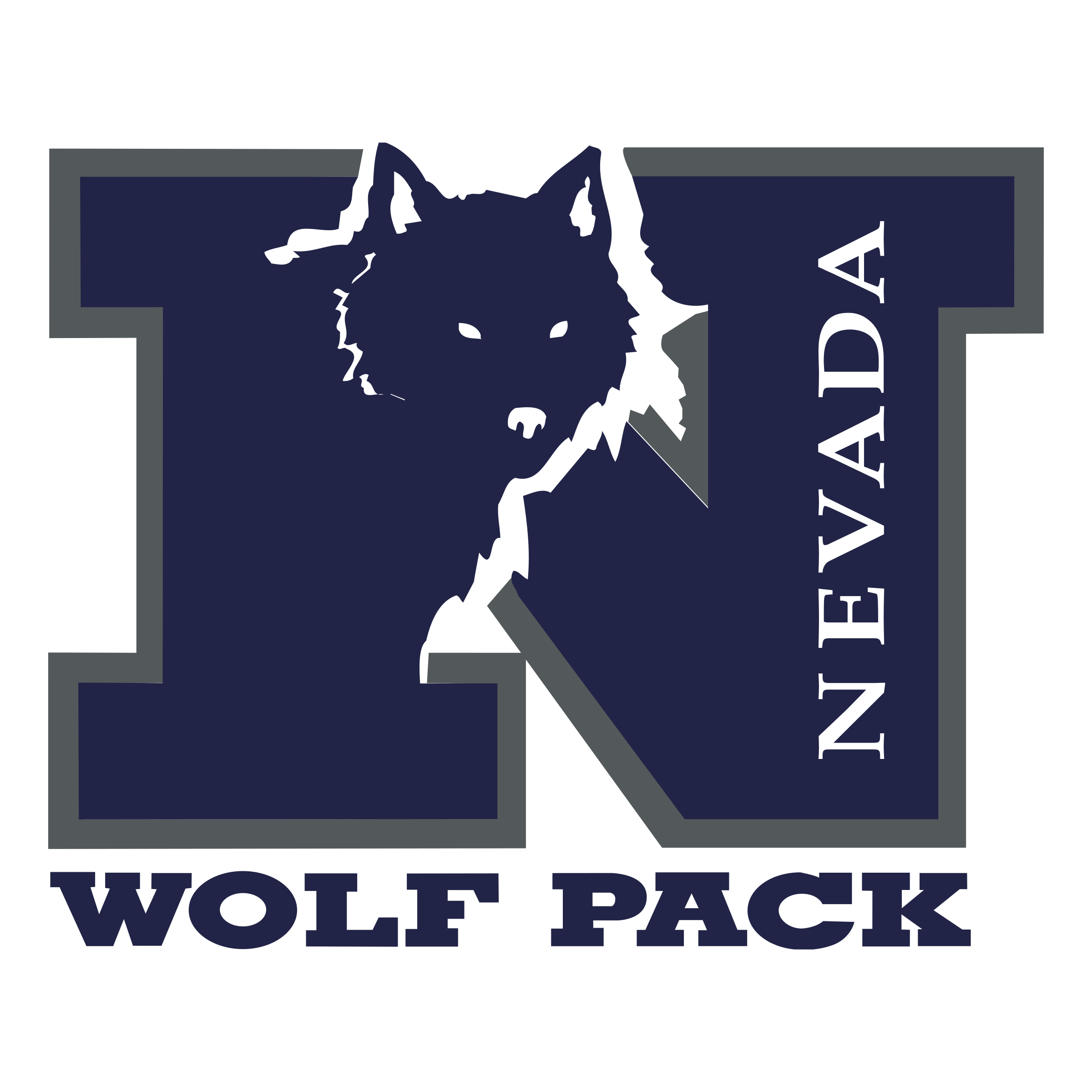 Nevada Wolf Pack Logo PNG Transparent & SVG Vector - Freebie