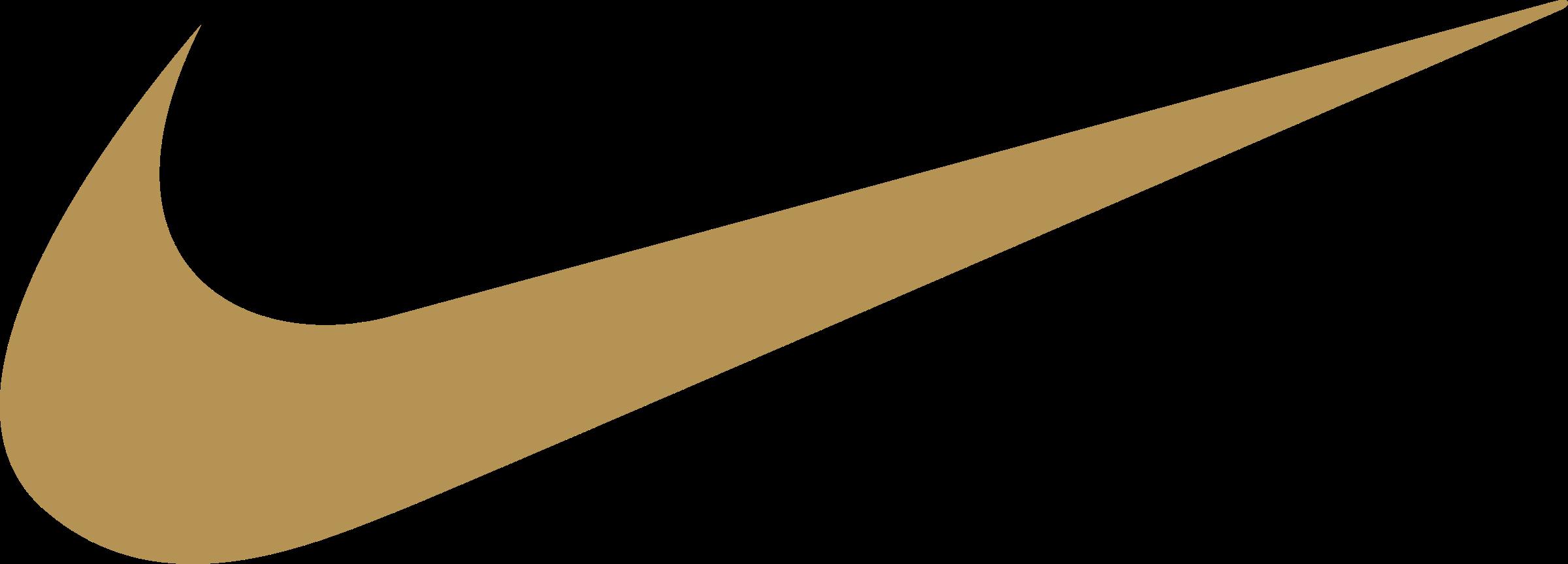 Gold Nike Logo PNG Transparent \u0026 SVG
