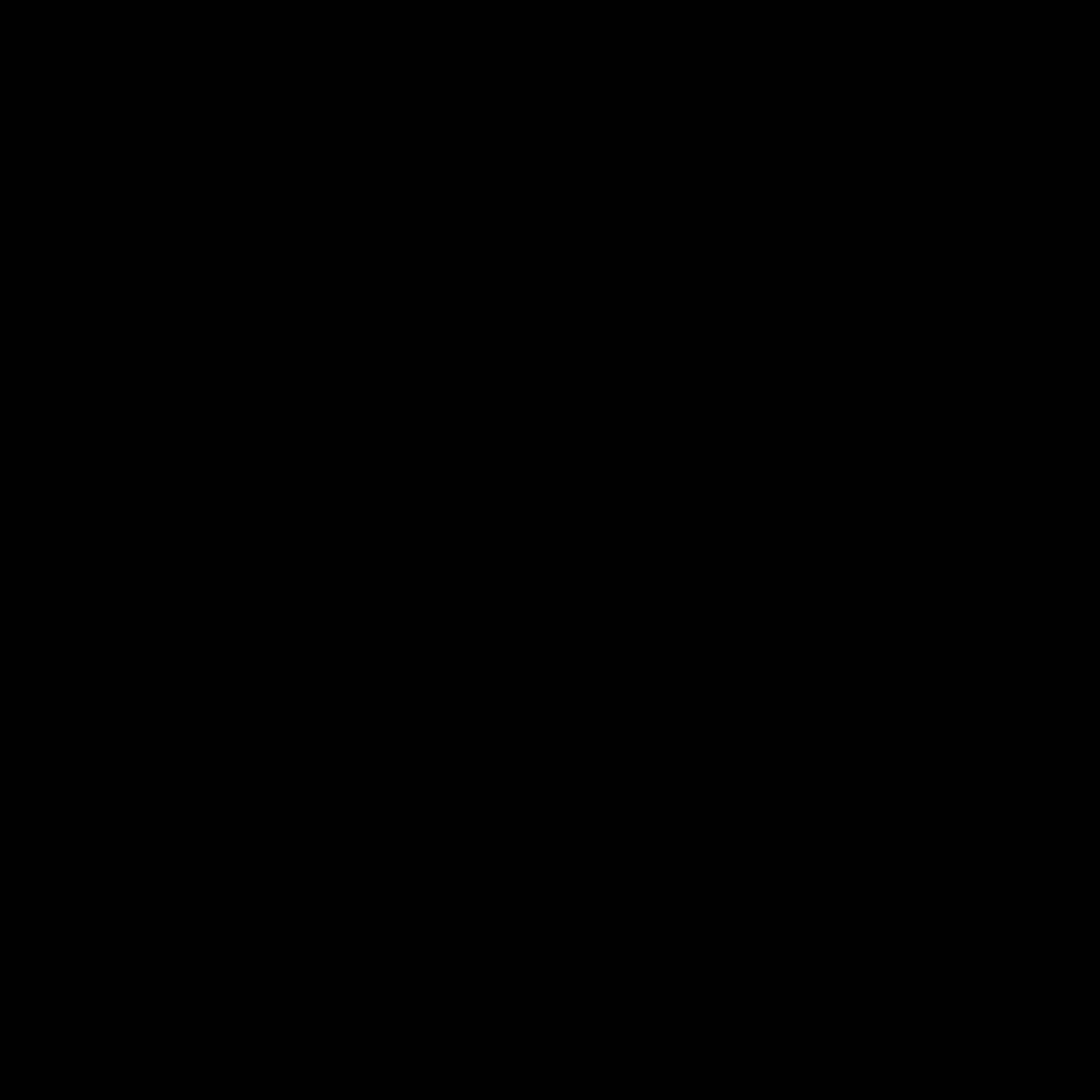 Pinterest logo black and white