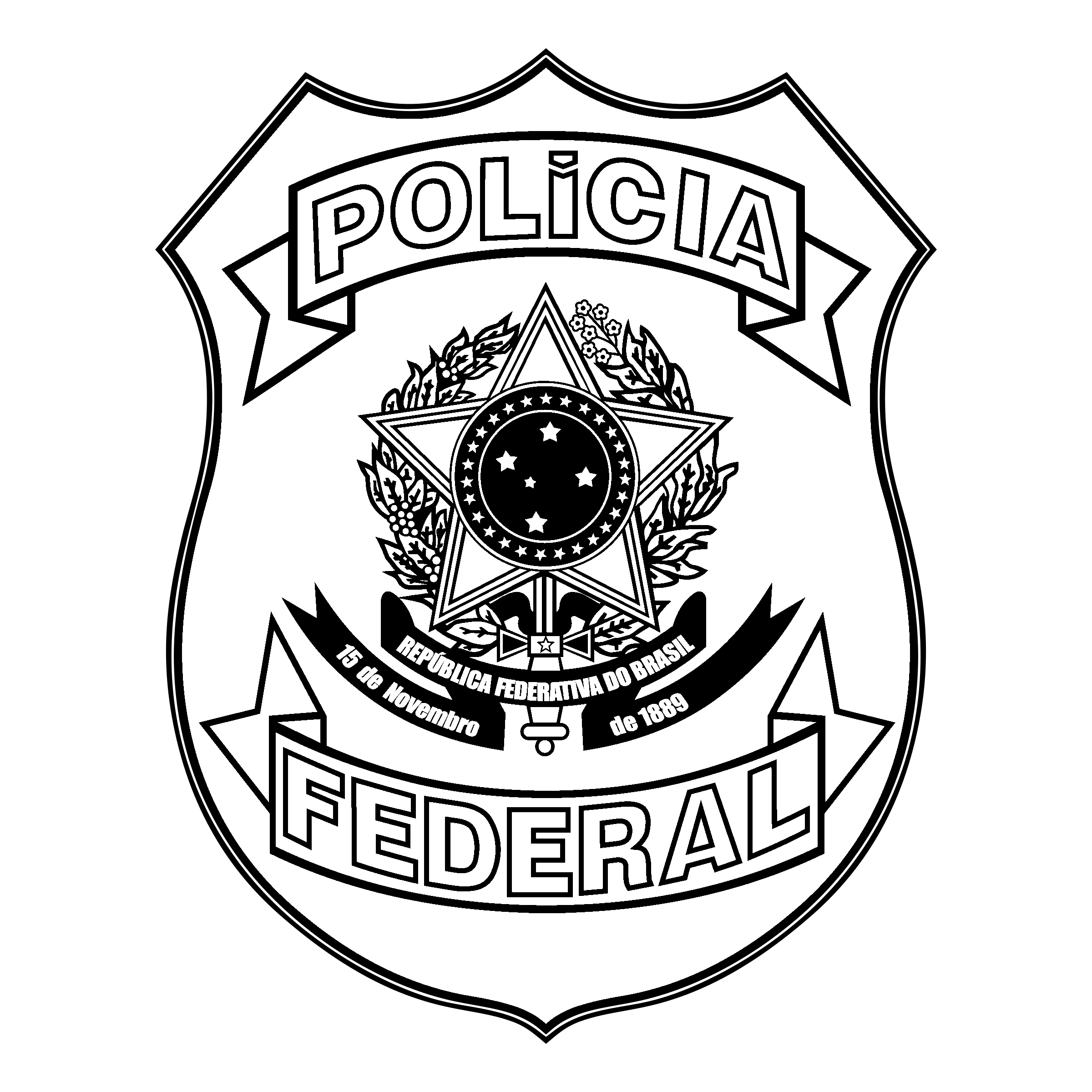 policia federal logo png transparent svg vector freebie supply