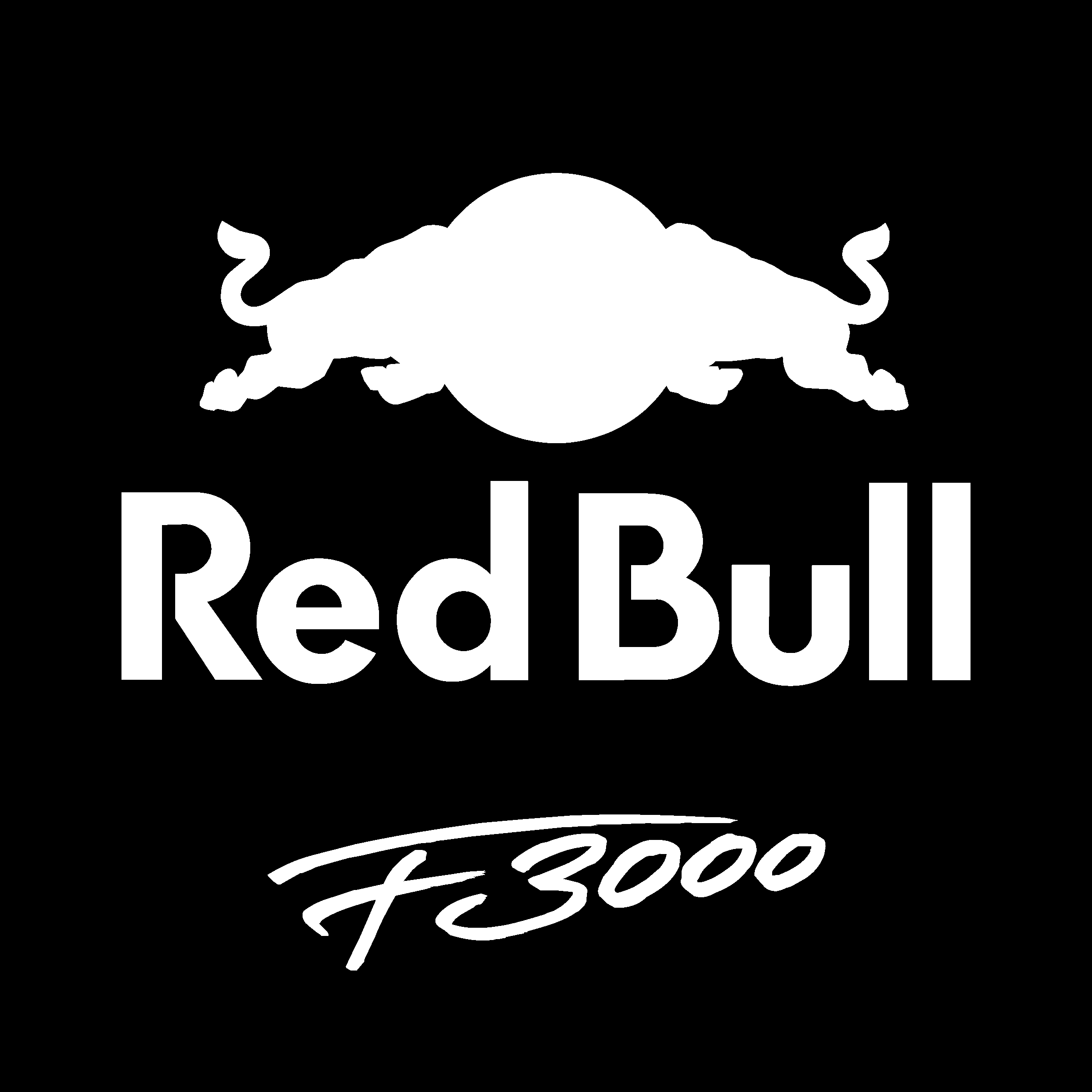 Red bull junior team f3000 logo black and white