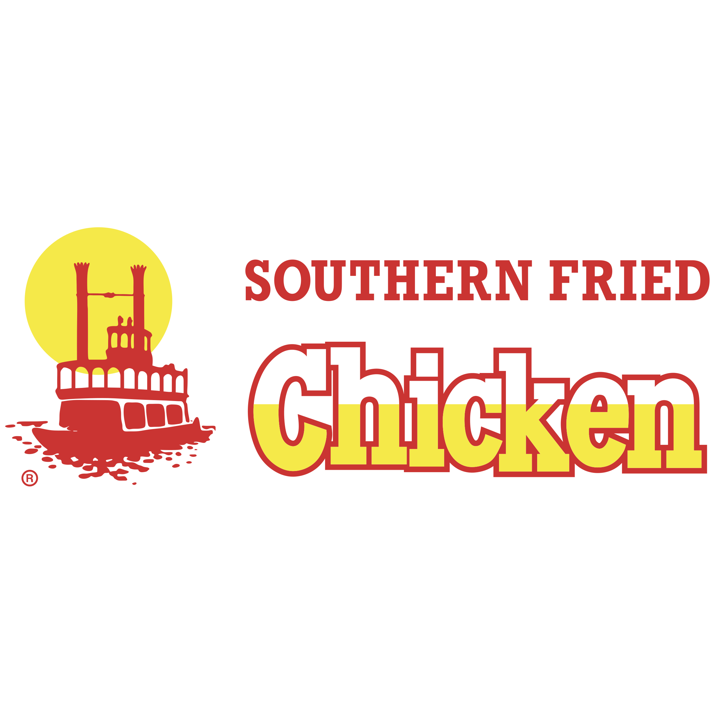southern fried chicken logo png transparent svg vector freebie