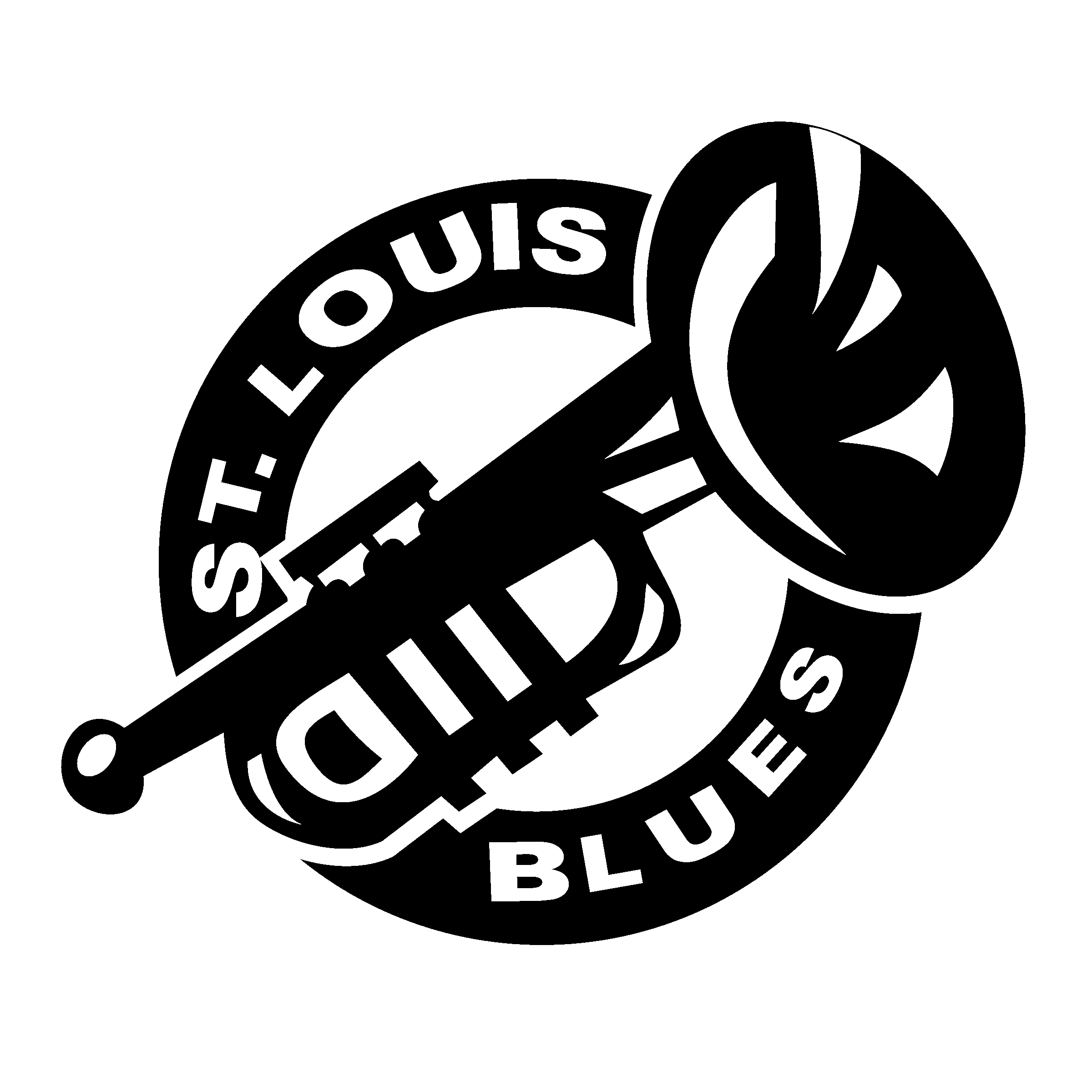 St Louis Blues Logo Black And White