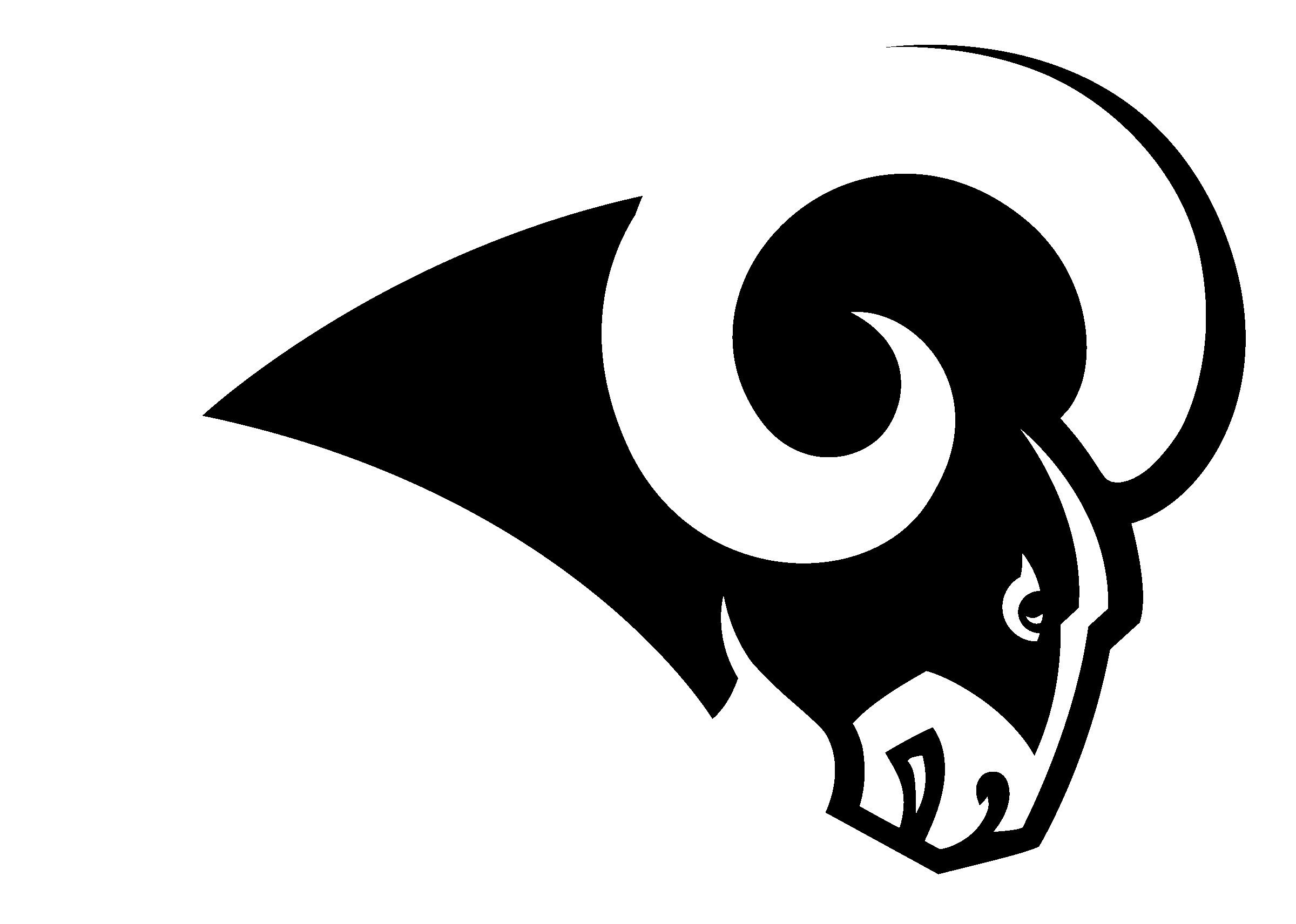 St Louis History In Black And White: St. Louis Rams Logo PNG Transparent & SVG Vector
