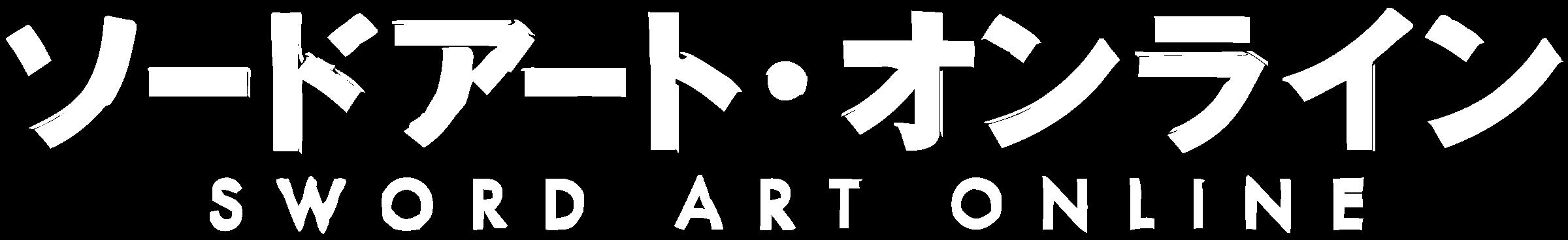 Sword art online logo black and white
