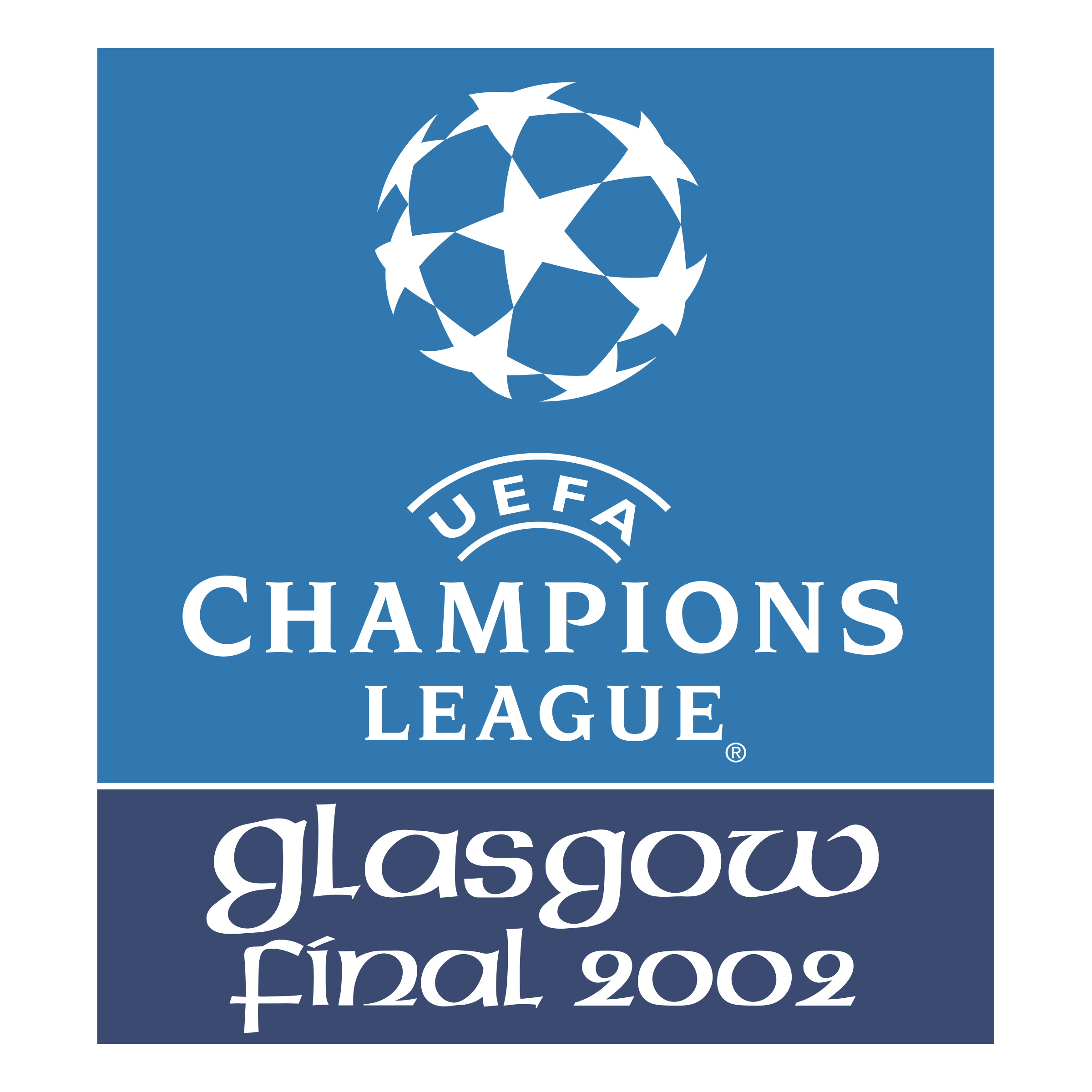 uefa champions league glasgow final 2002 logo png transparent svg vector freebie supply uefa champions league glasgow final
