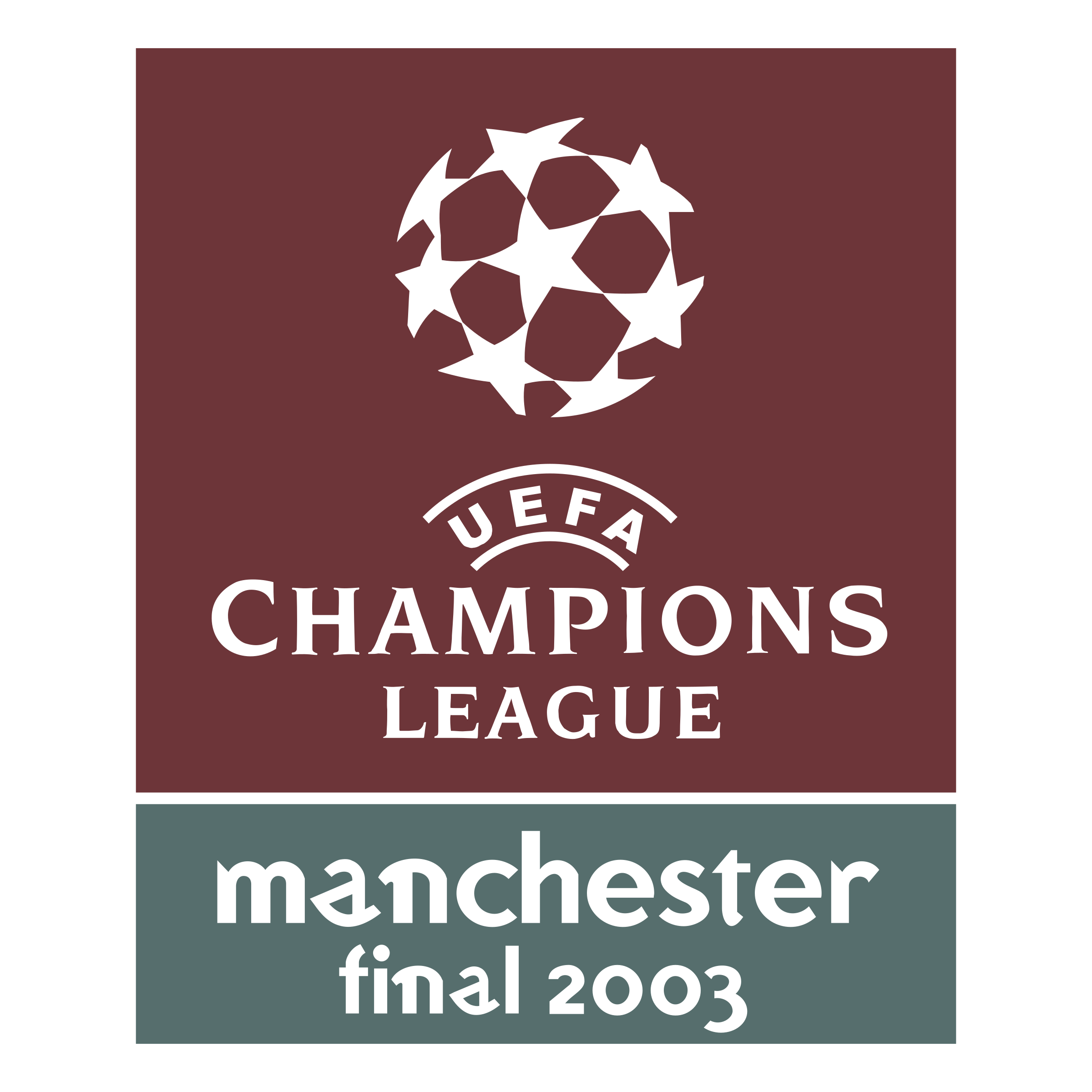 Uefa champions league manchester final 2003 logo png transparent uefa champions league manchester final 2003 logo black and white altavistaventures Gallery