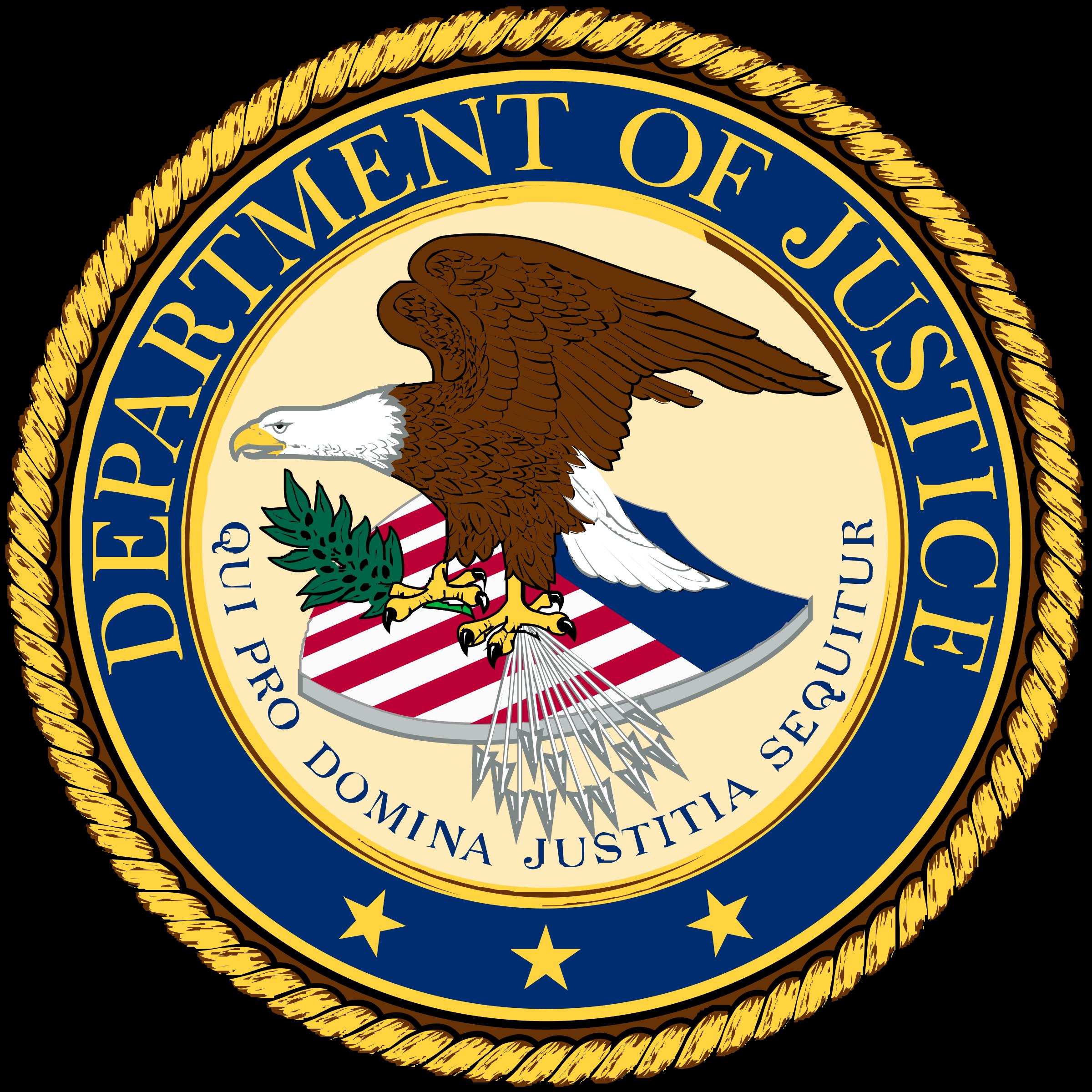 US Department Of Justice Logo PNG Transparent & SVG Vector ...