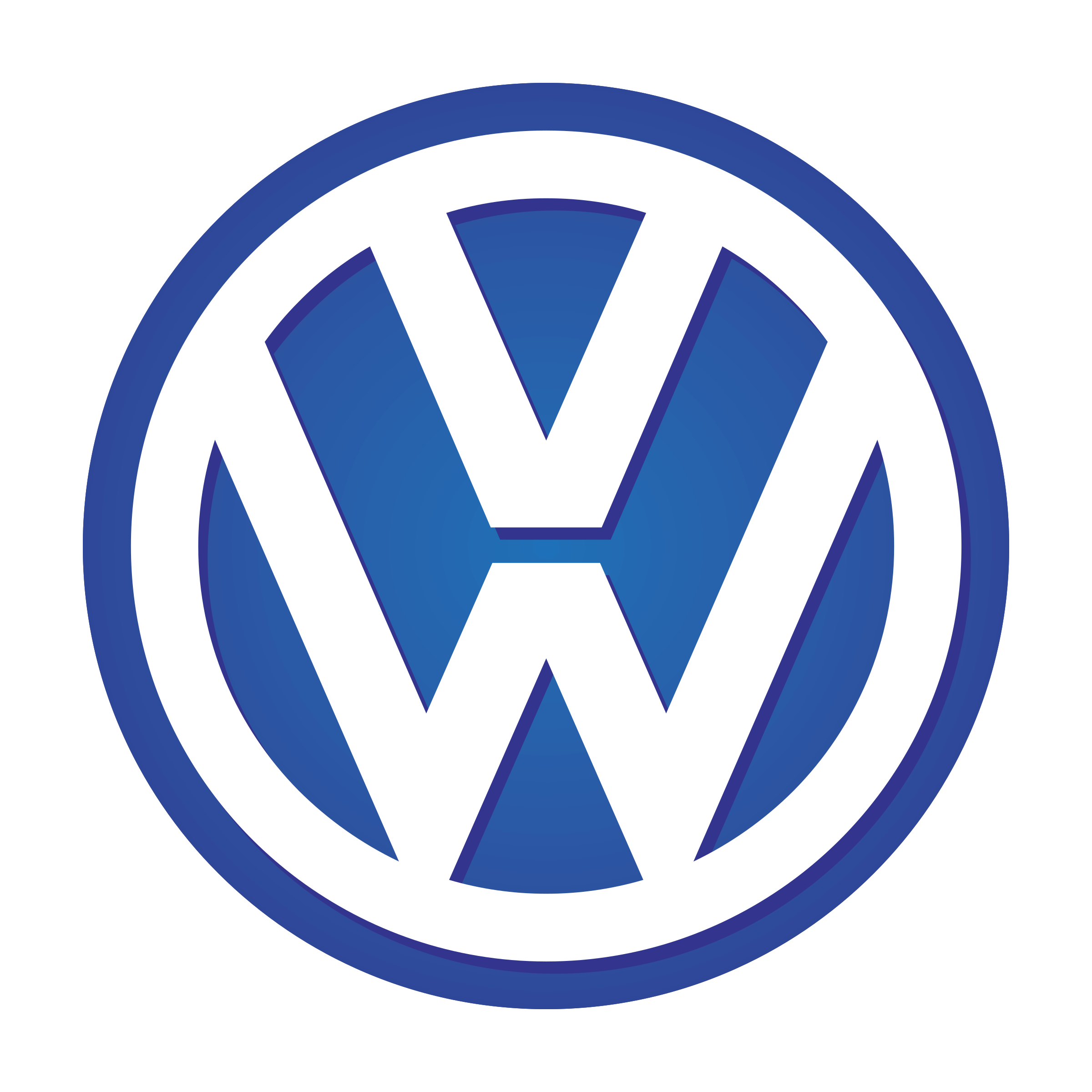 Volkswagen vw logo png transparent