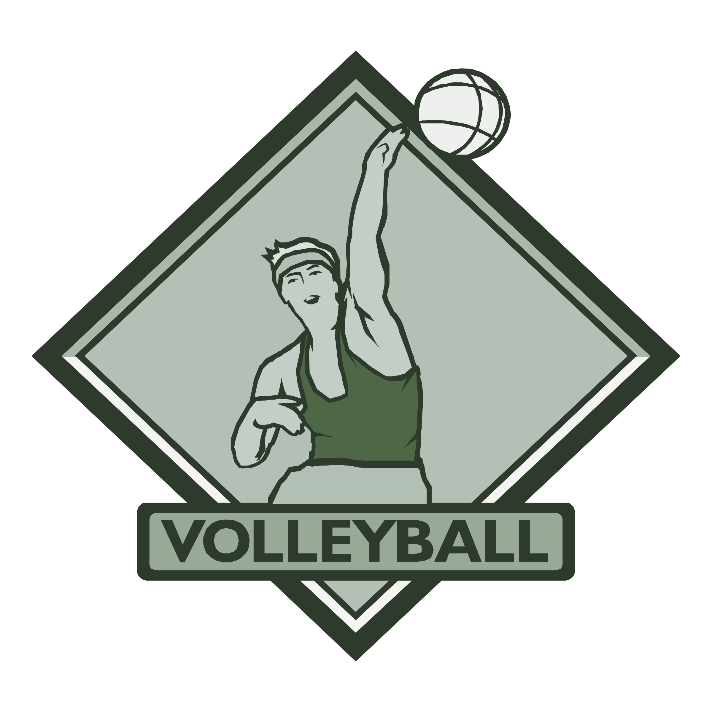 Volleyball Logo Png Transparent Svg Vector Freebie Supply