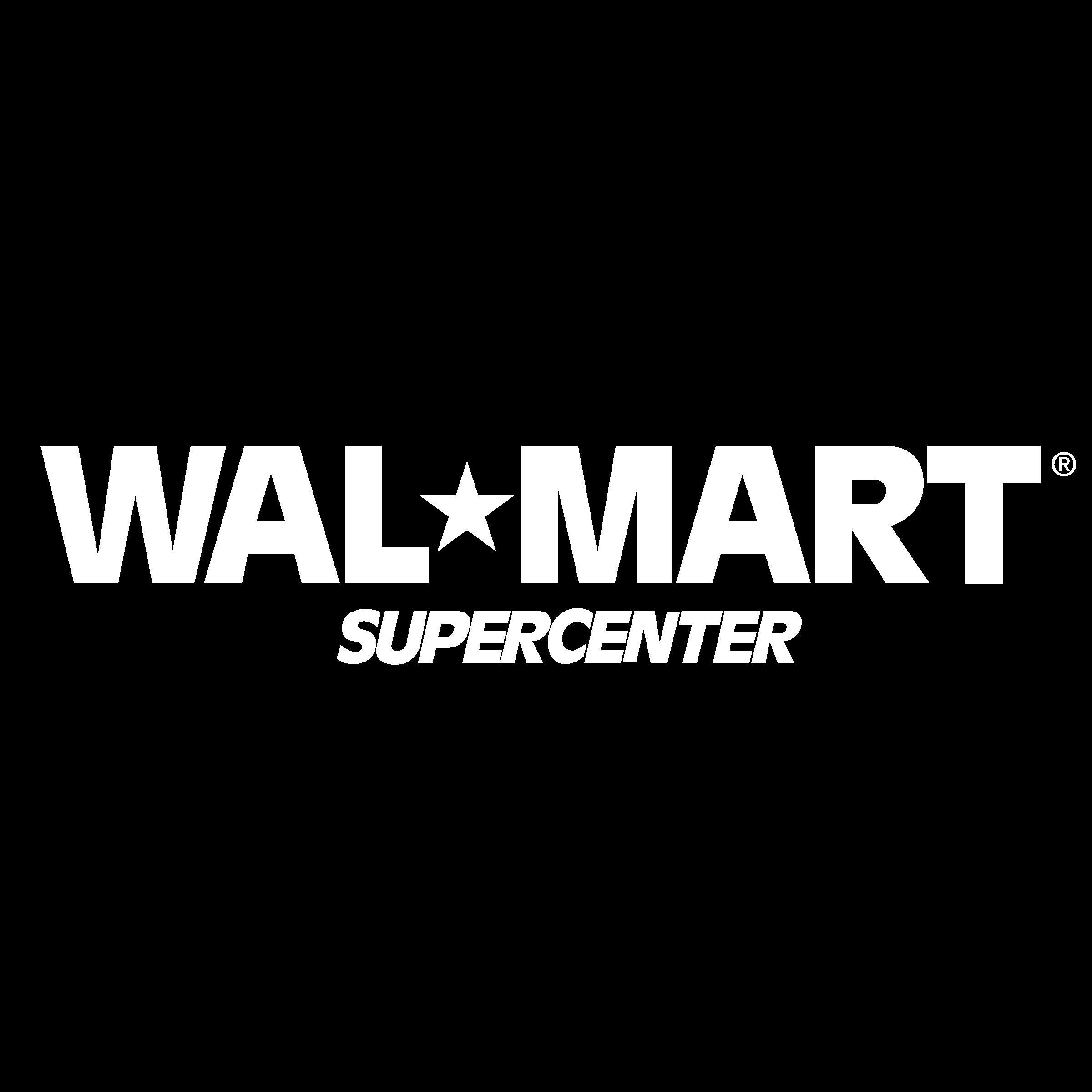 Wal Mart Supercenter Logo Black And White