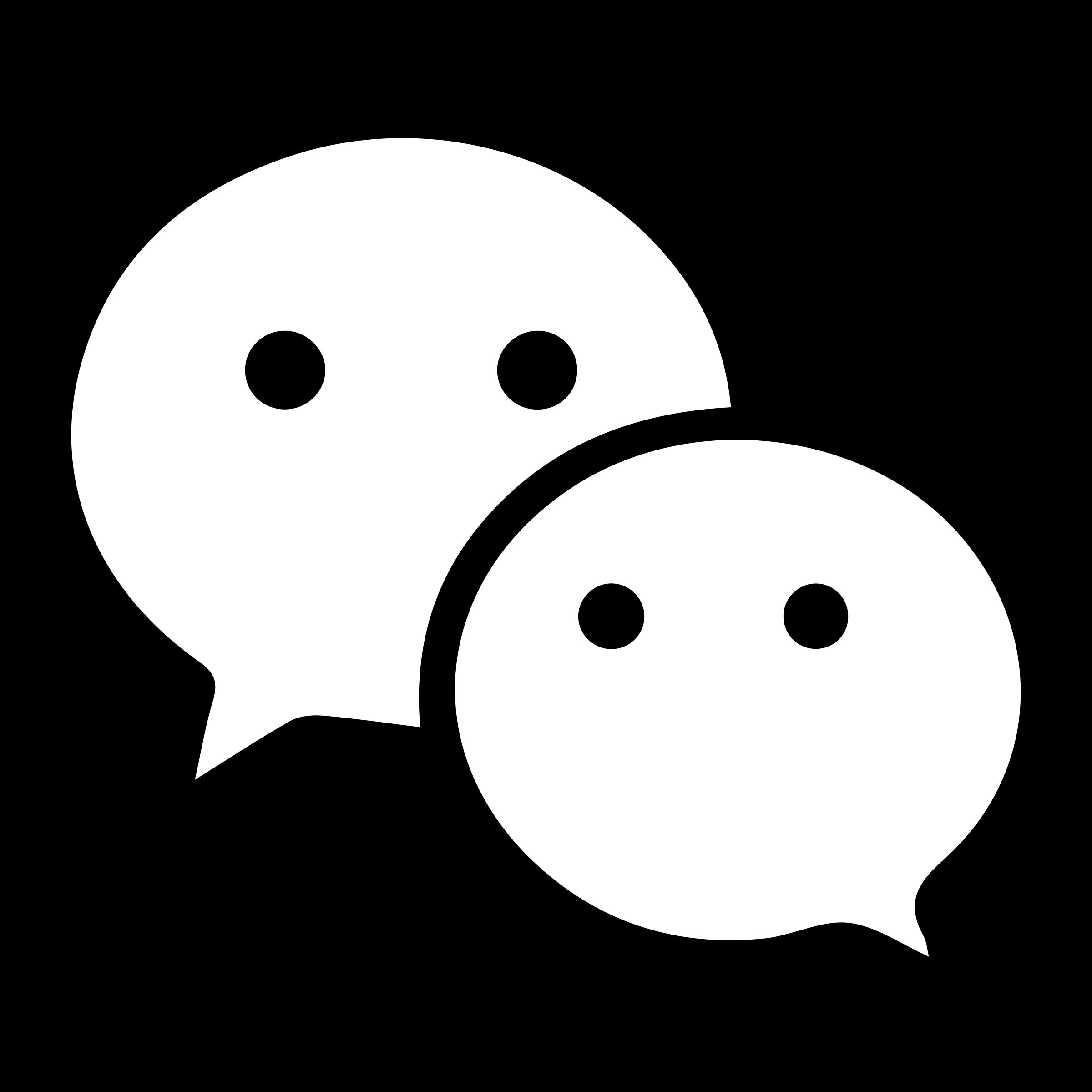 wechat black logo png transparent svg vector freebie supply