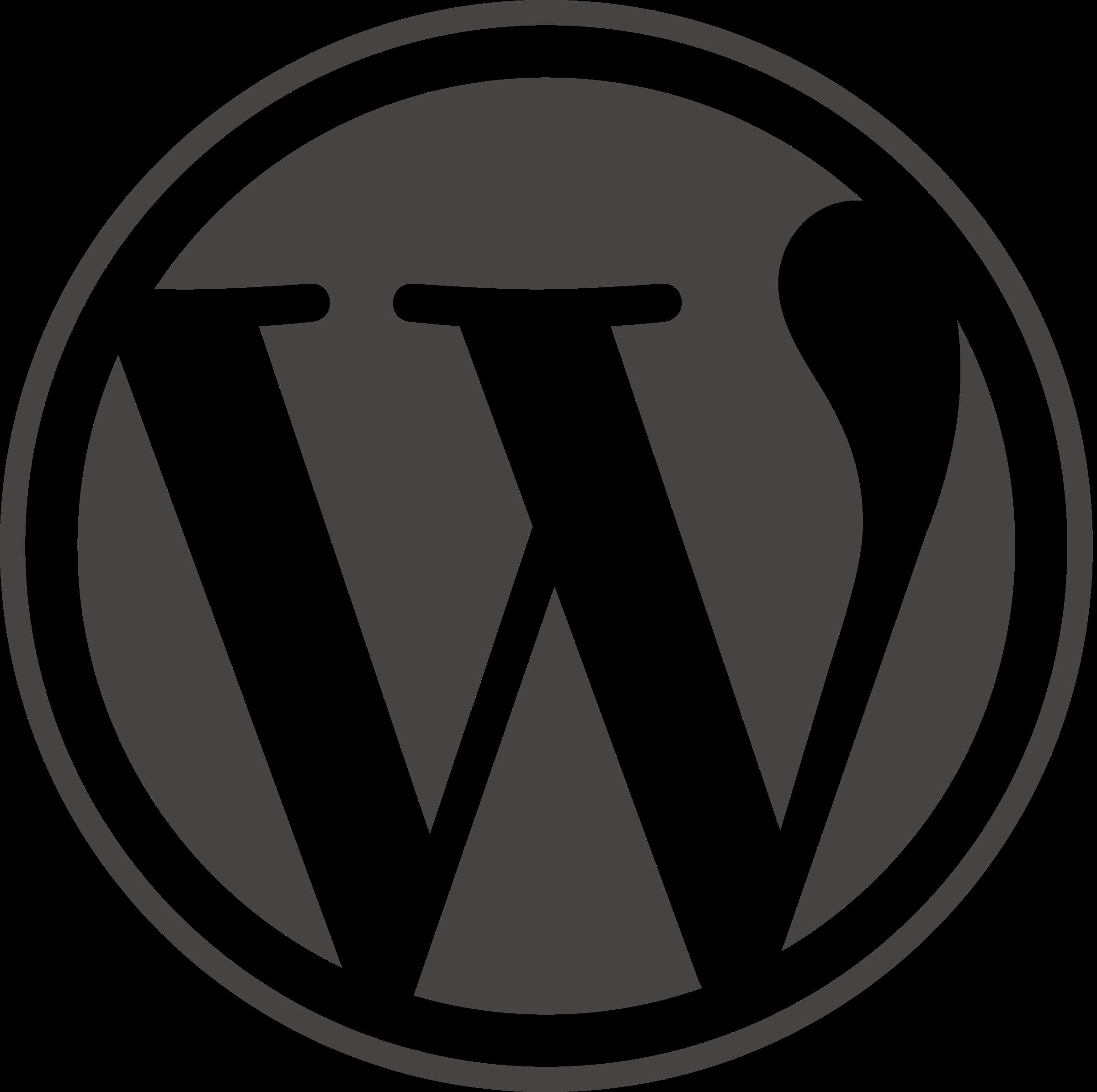 Wordpress icon Logo PNG Transparent & SVG Vector - Freebie ...