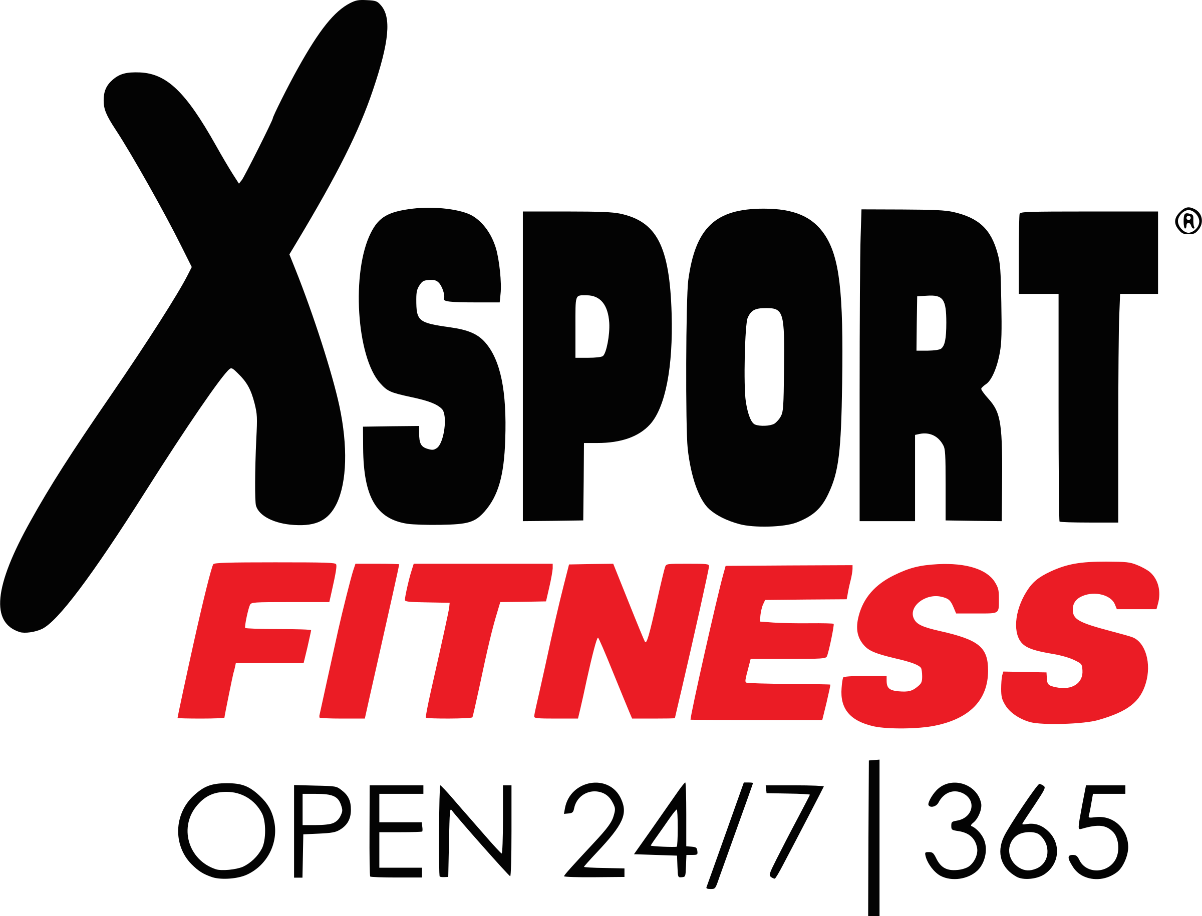 Xsport Fitness Logo PNG Transparent