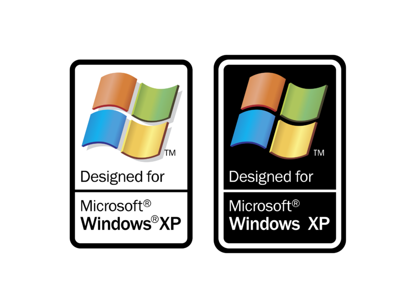 Designed for Microsoft Windows XP Logo PNG Transparent ...