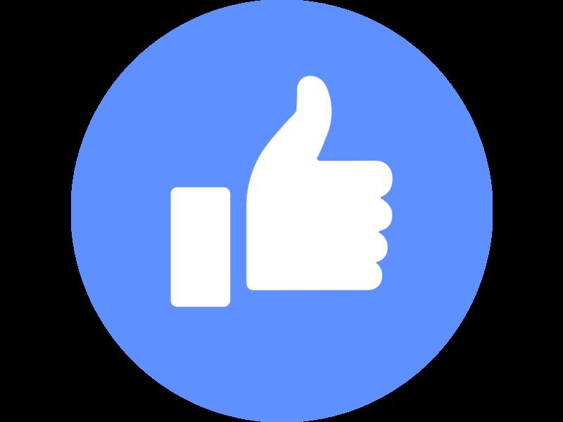 Facebook Like Logo PNG Transparent & SVG Vector