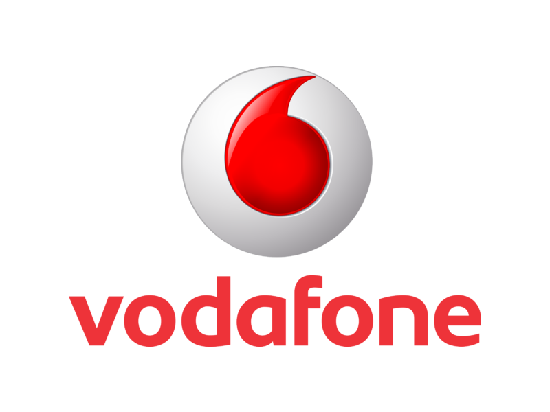 Like Facebook Logo Black And White Vodafone Logo PNG Tran...