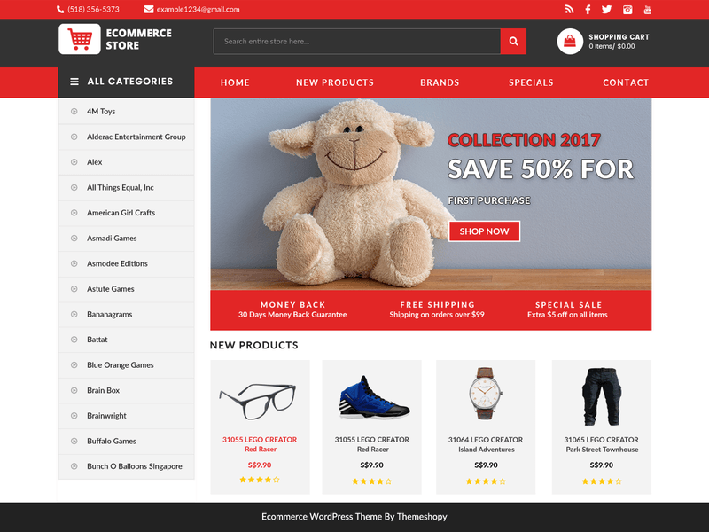 BB Ecommerce Store - Free Ecommerce WordPress Theme