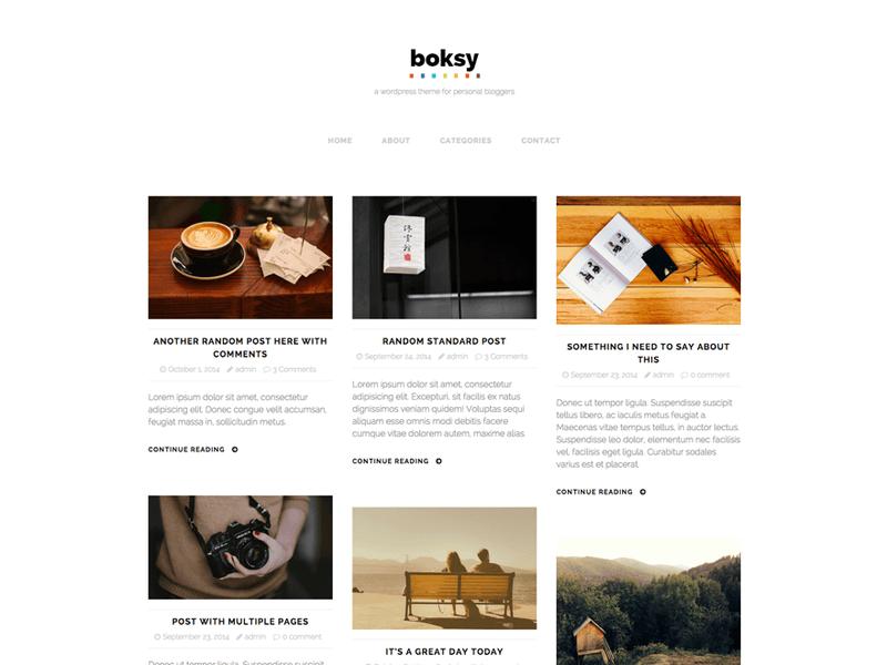 Boksy Lite Free Portfolio Wordpress Theme Freebie Supply