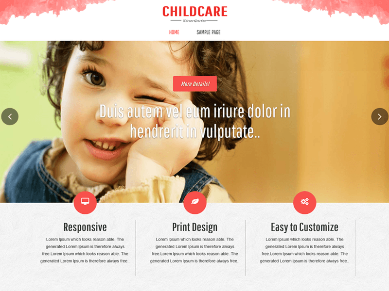 Childcare free business wordpress theme freebie supply this is a free wordpress business theme by asiathemes that could also be used for corporate and school websites having more than 700 installs friedricerecipe Choice Image