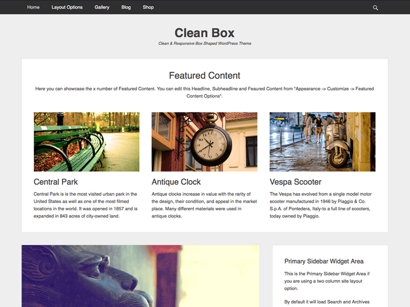 Clean Box - Free WordPress Theme - Freebie Supply
