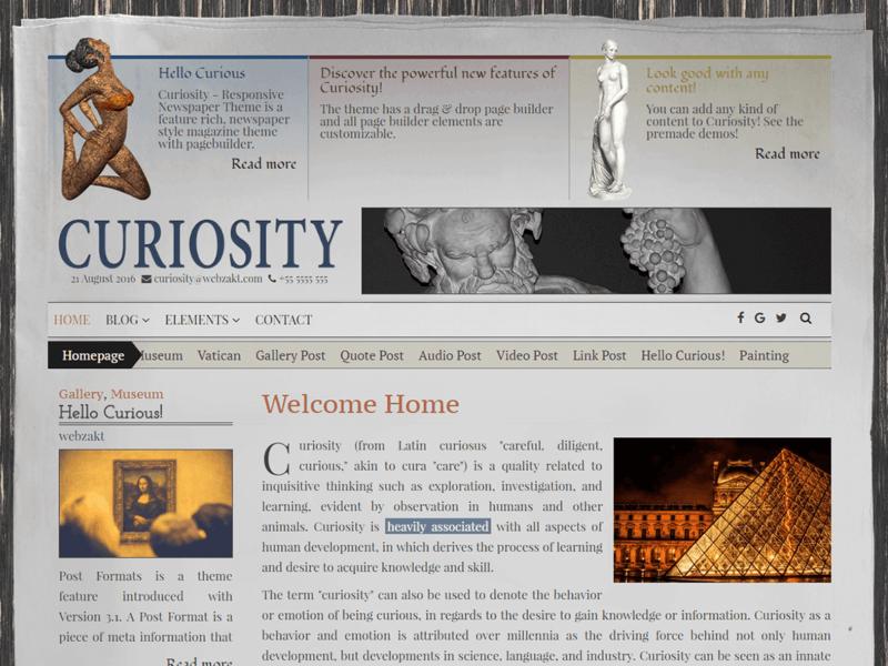 Curiosity Lite - Free Ecommerce WordPress Theme - Freebie Supply