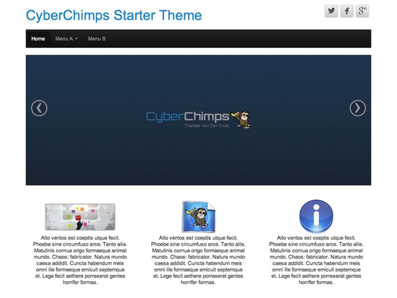 CyberChimps - Free Bootstrap WordPress Theme - Freebie Supply