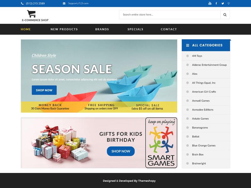 E Commerce Shop Free Ecommerce Wordpress Theme Freebie Supply