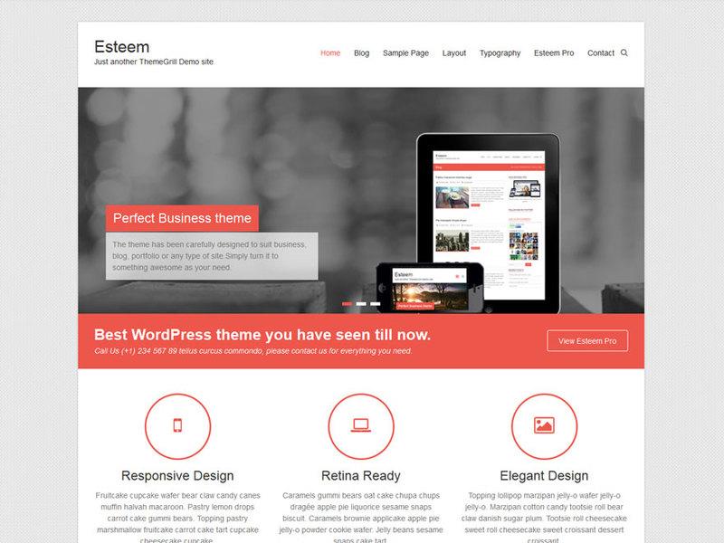 Esteem free business wordpress theme freebie supply screenshot accmission Choice Image